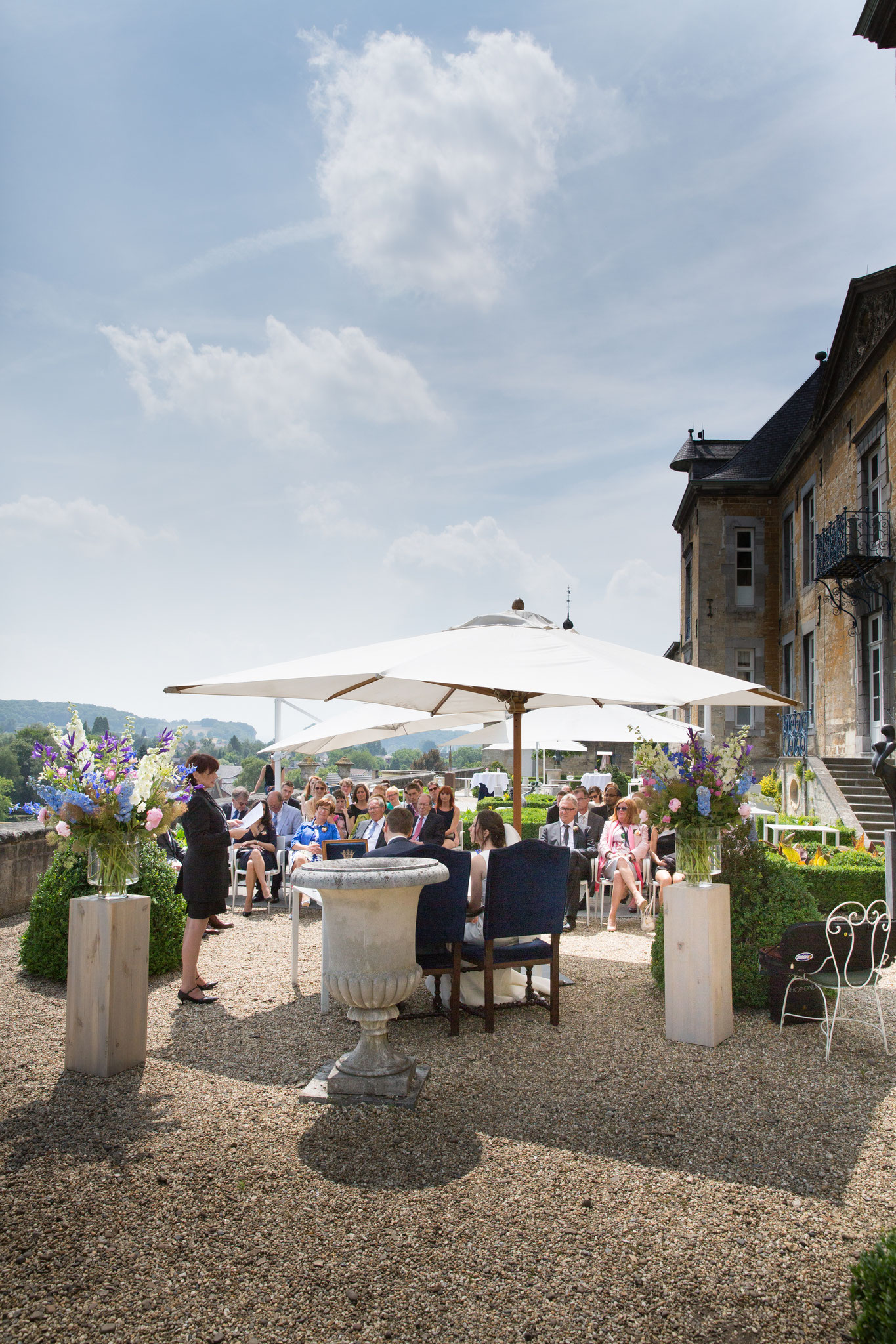 Bruidsfotograaf Limburg Maastricht Chateau Neercanne