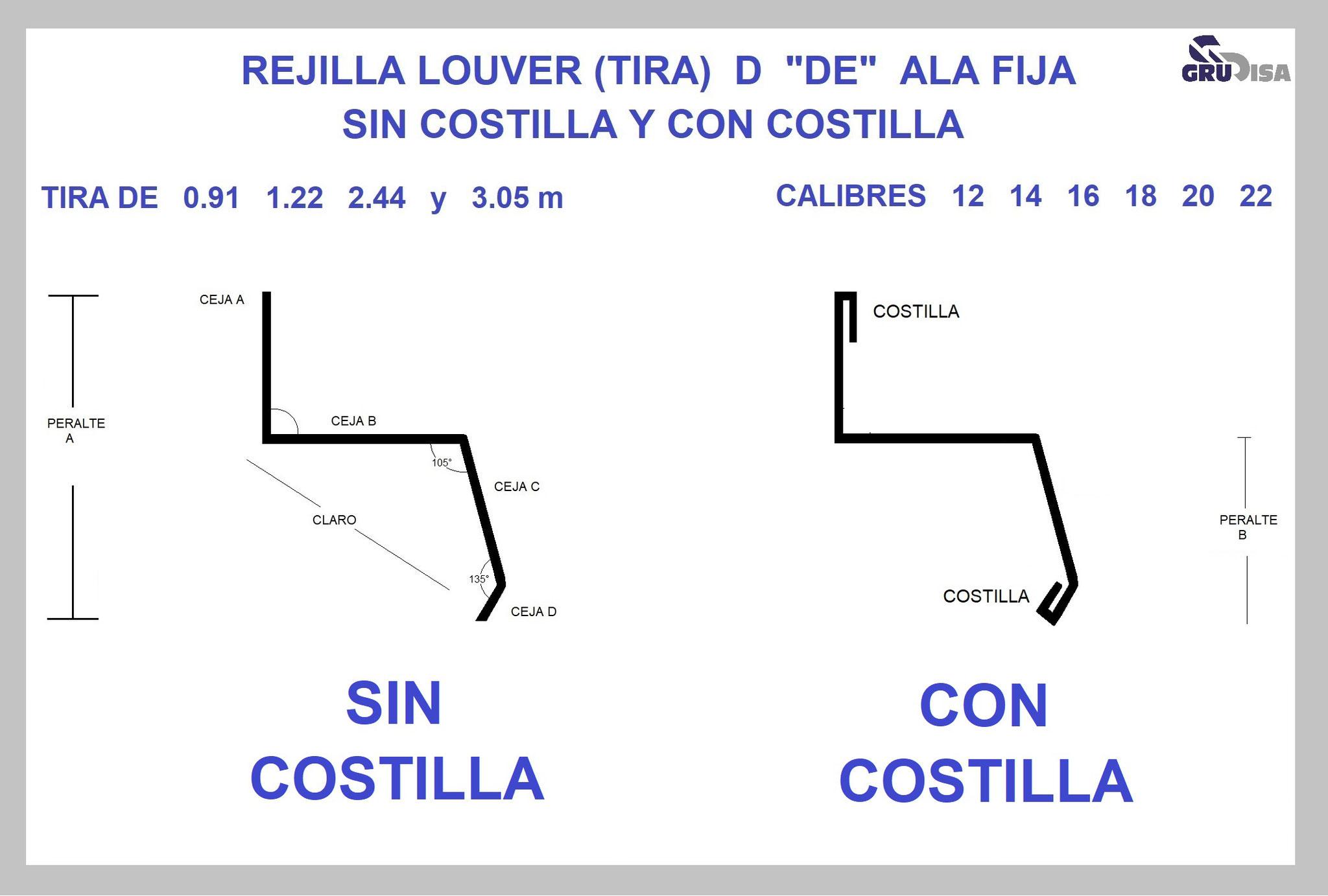 REJILLA LOUVER (TIRA) D
