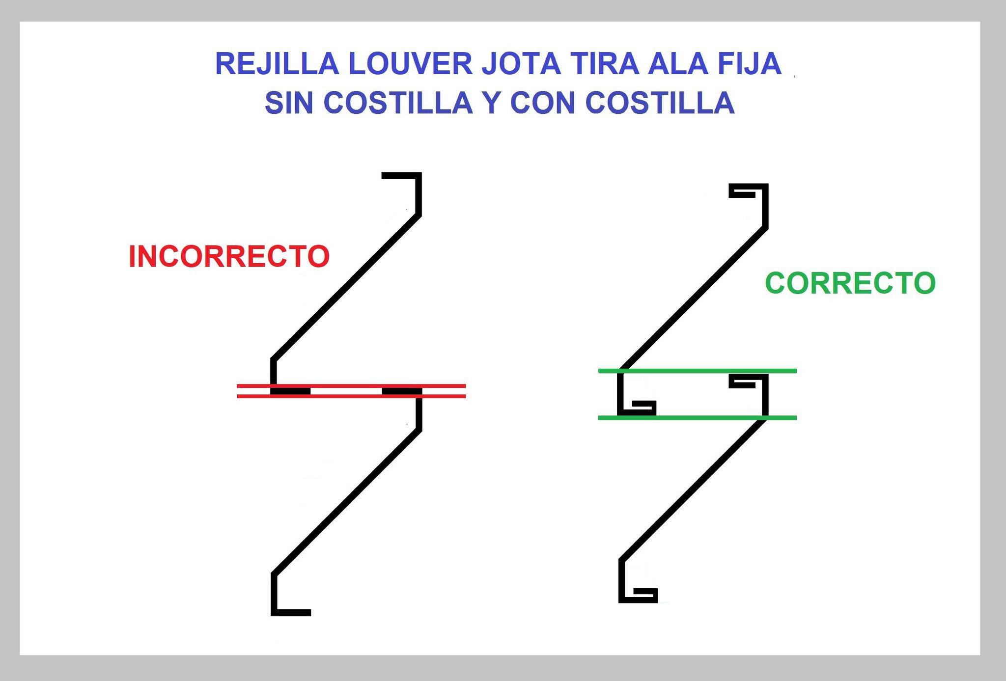 REJILLA LOUVER TIRA J (JOTA) TIRA PARA PERSIANA DE HERRERÍA GUÍA DE INSTALACIÓN 1