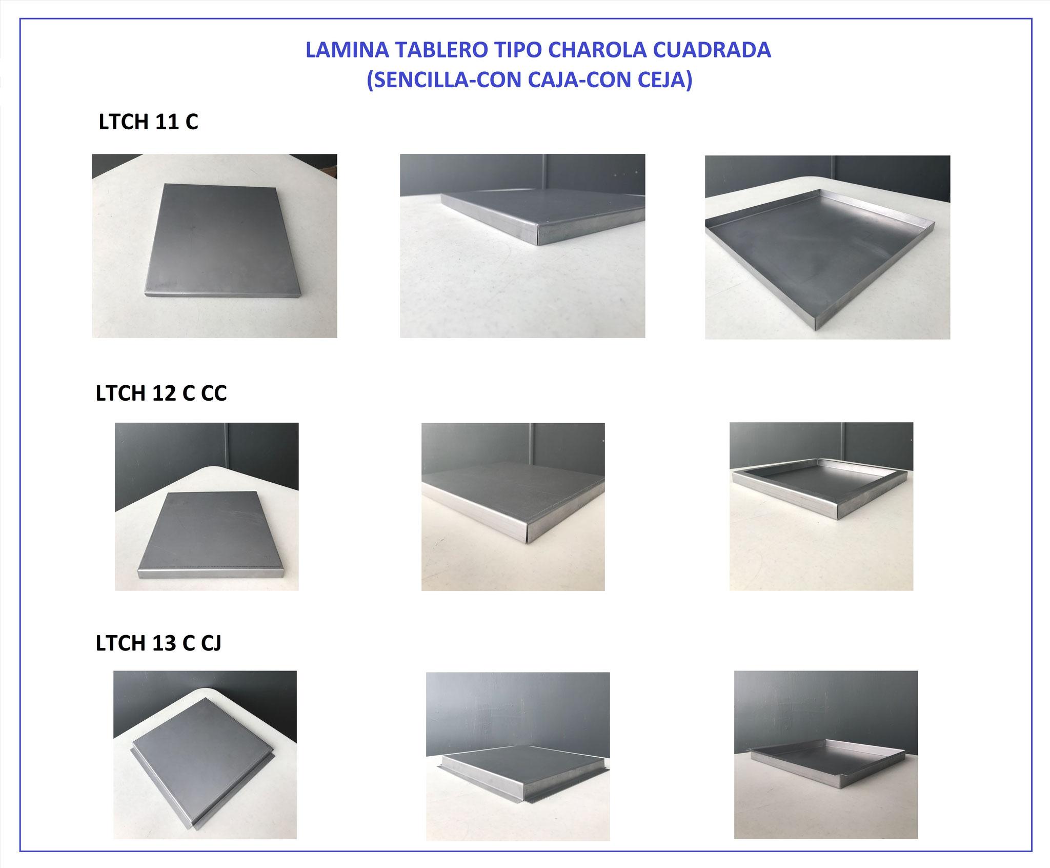 LÁMINA TABLERO PARA PUERTA TIPO CHAROLA CUADRADA 11