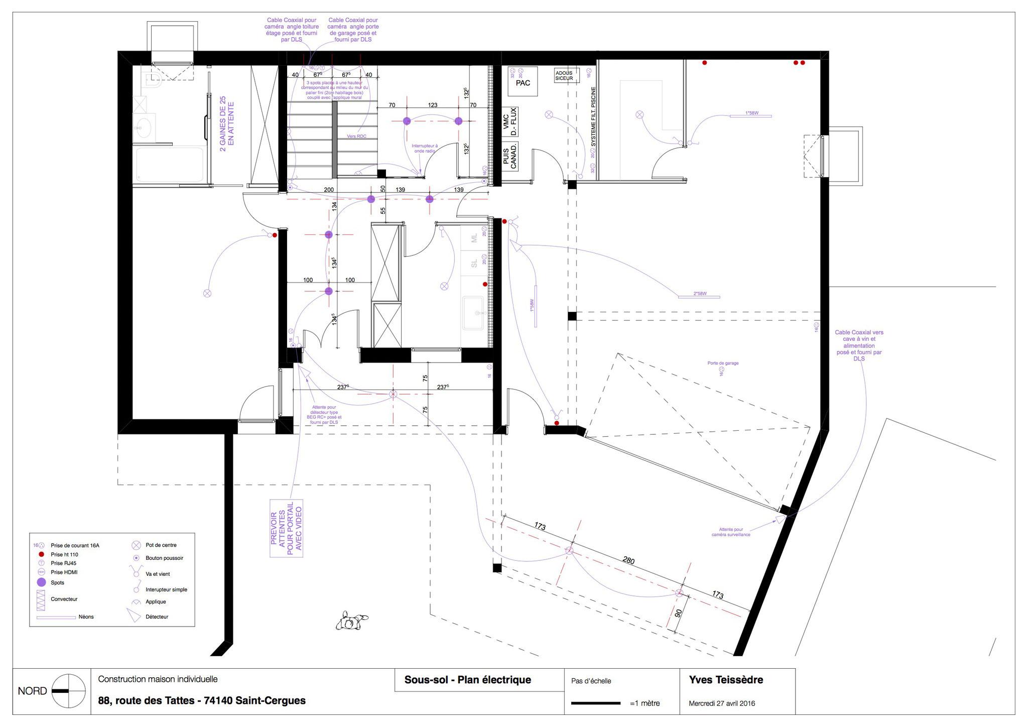 plan lectrique du sous sol - Plan Electrique Maison Individuelle