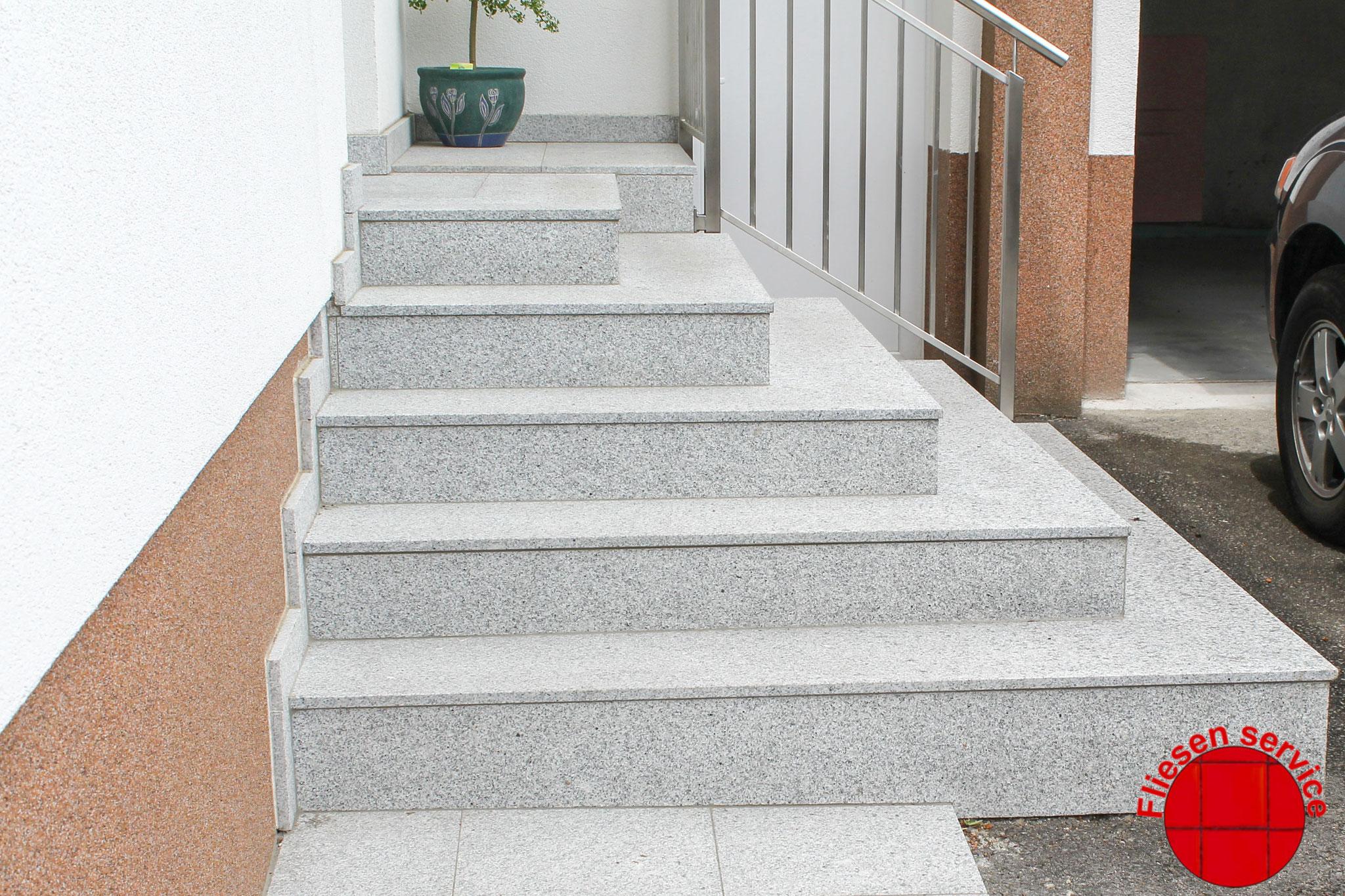 Wir verlegen auch Stufen