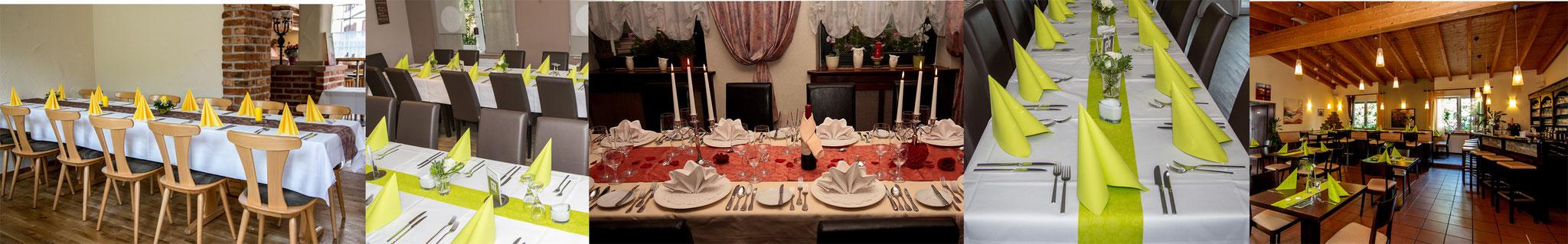 Gedeckter Tisch - Gastlichkeit