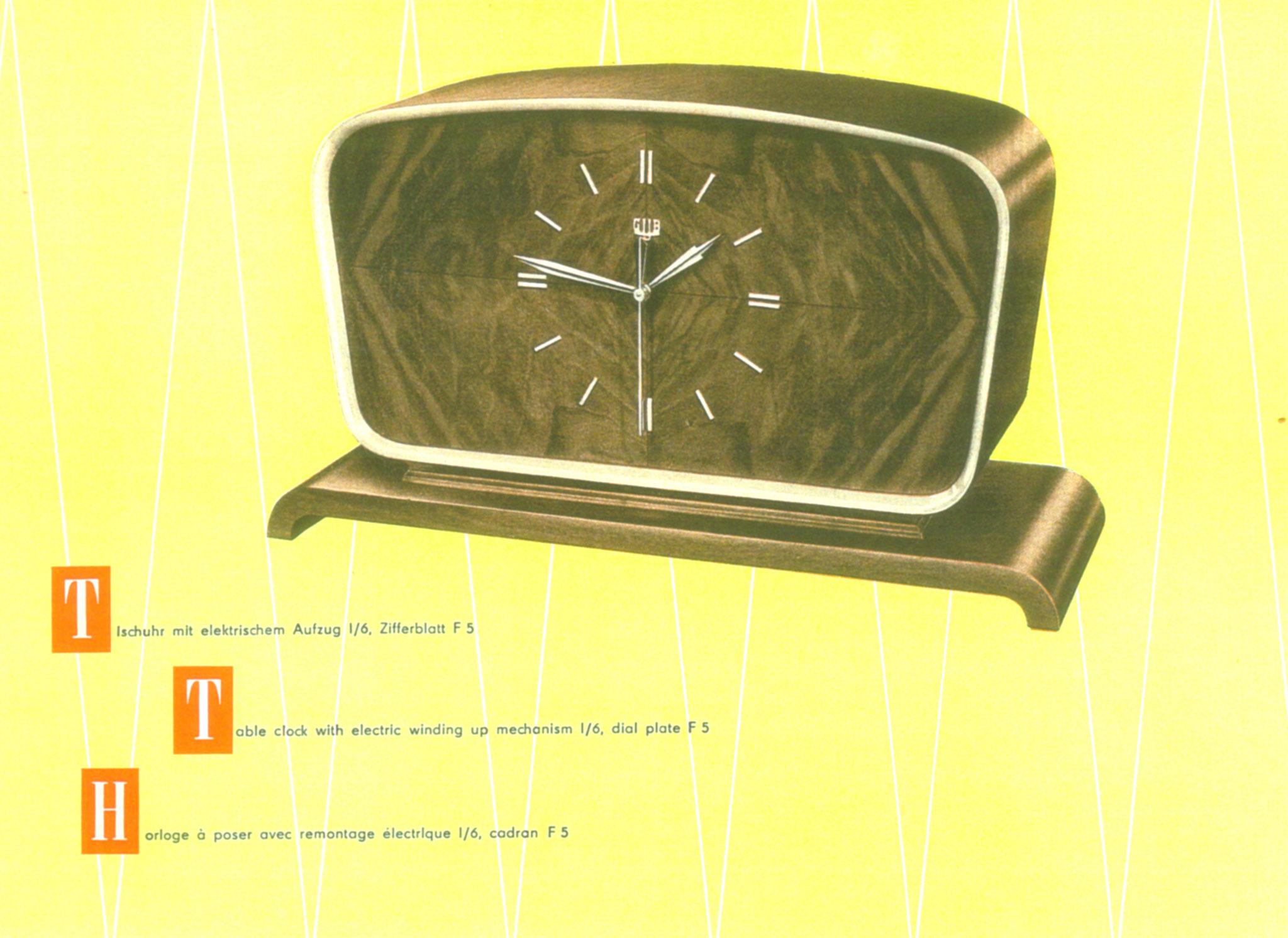 GUB Werbekatalog von 1956
