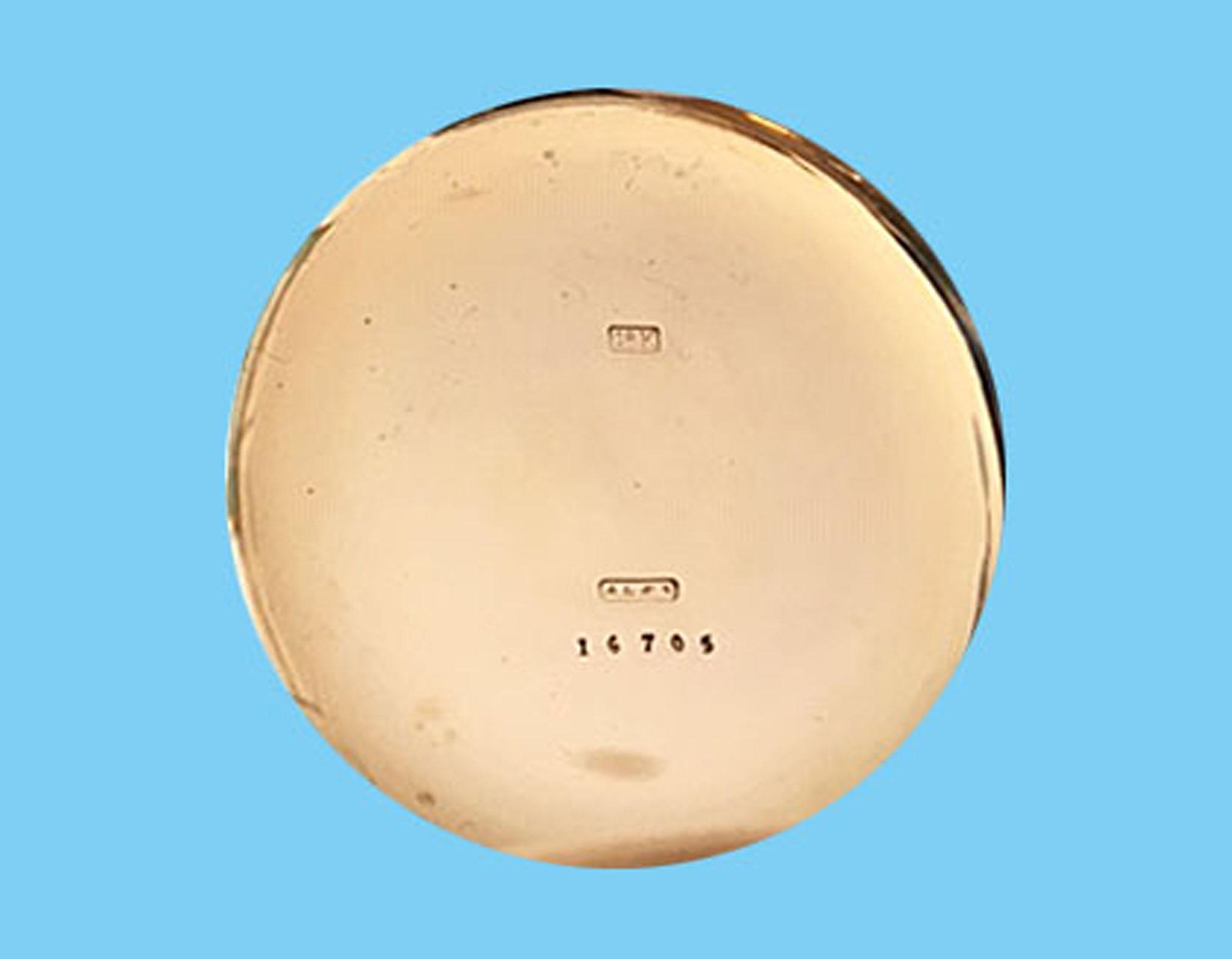 Hier noch die vor 1886 gültige Punzierung der Goldgehäuse der Firma A. Lange & Söhne