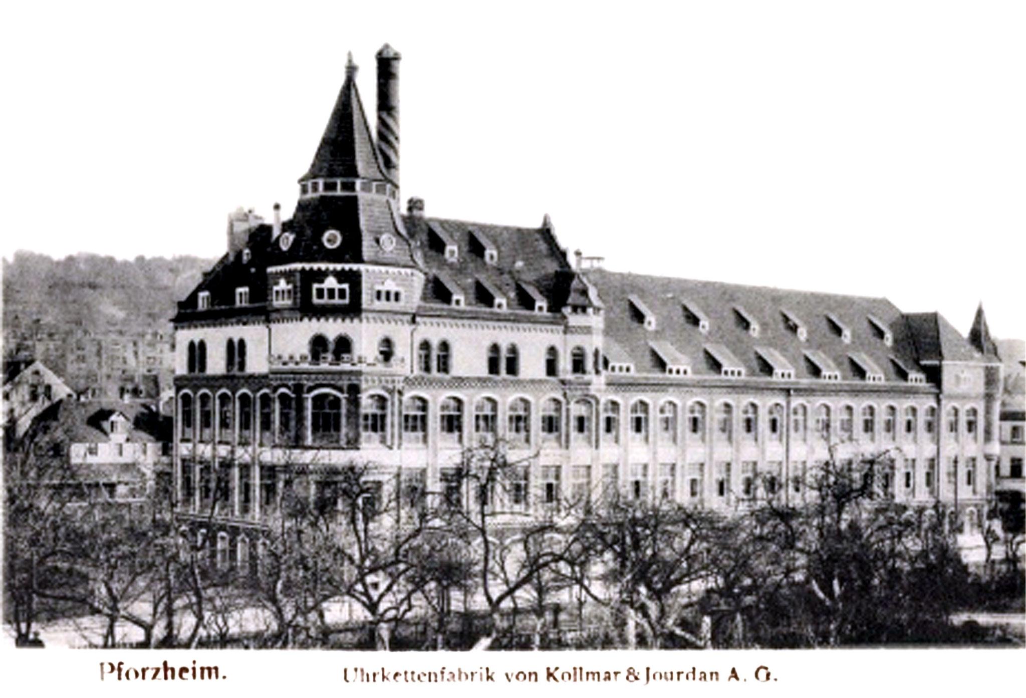 Das Firmengebäuse von Kollmar & Jourdan in den 1920er Jahren