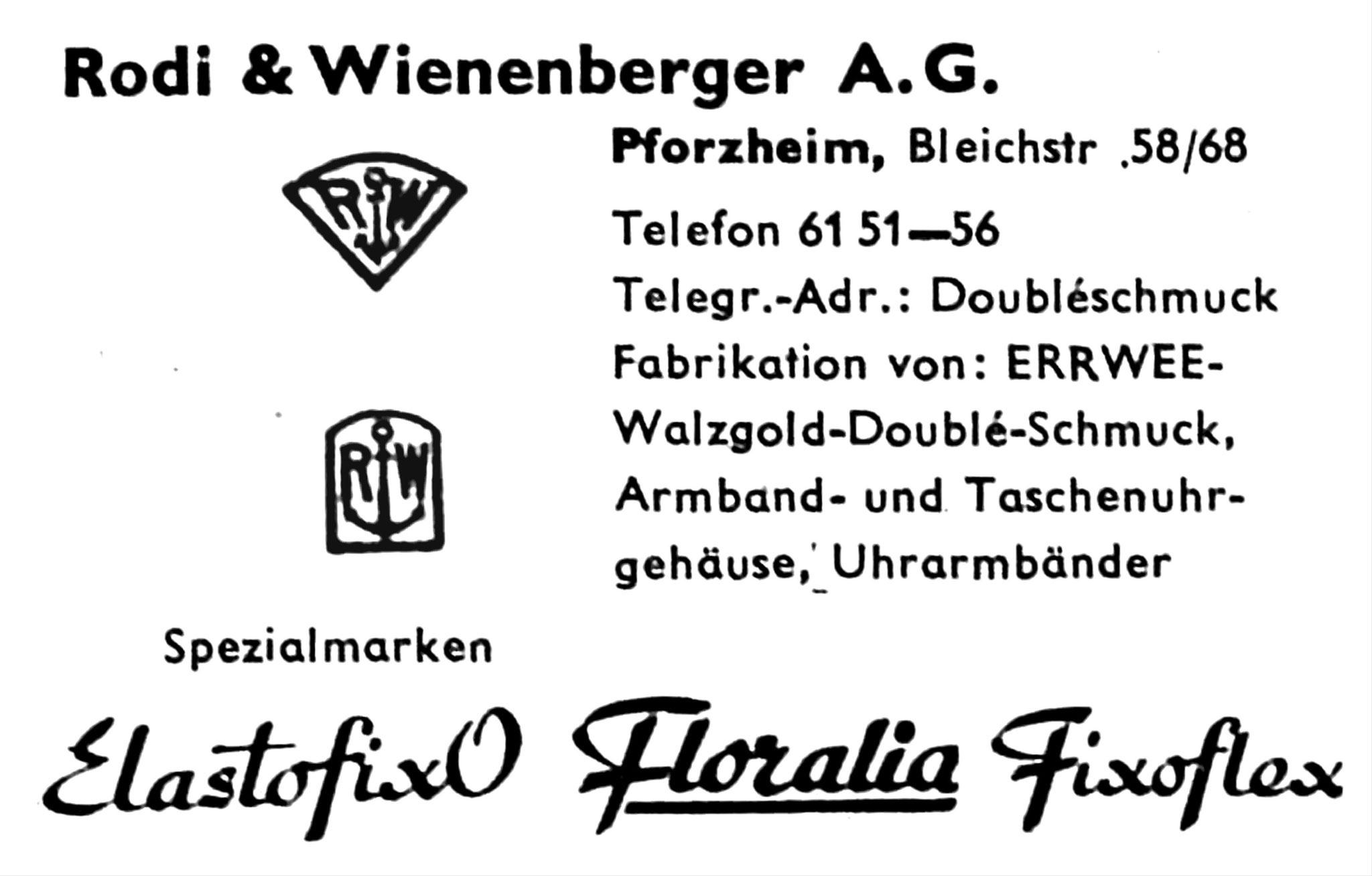 Quelle: Fachzeitschrift Die Uhr Nr. 20 von 1955 S.41