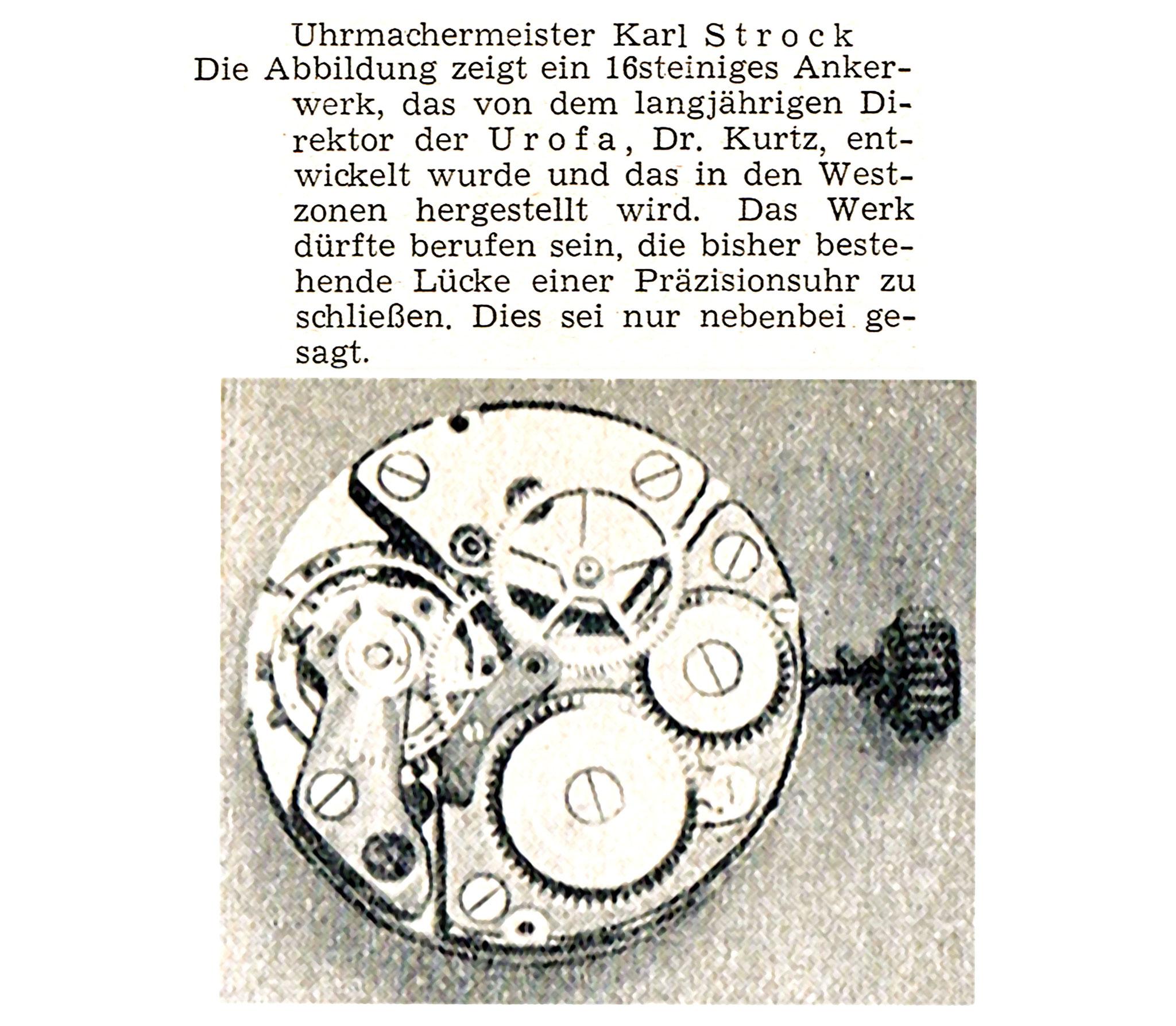 Quelle: Neue Uhrmacher-Zeitung Nr.10 von 1949
