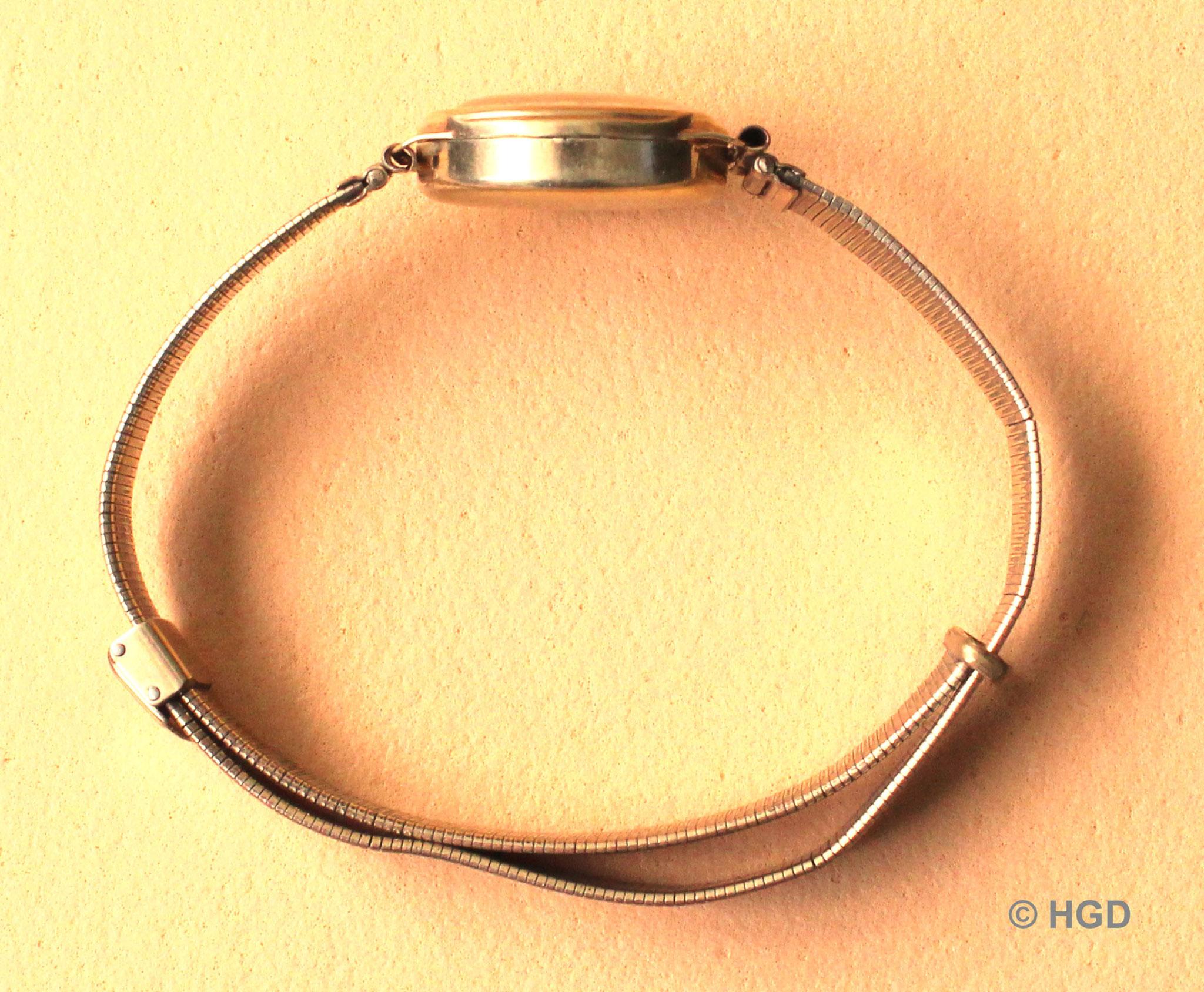Walzgoldgehäuse und Armband der Fa. Gebrüder Kuttroff