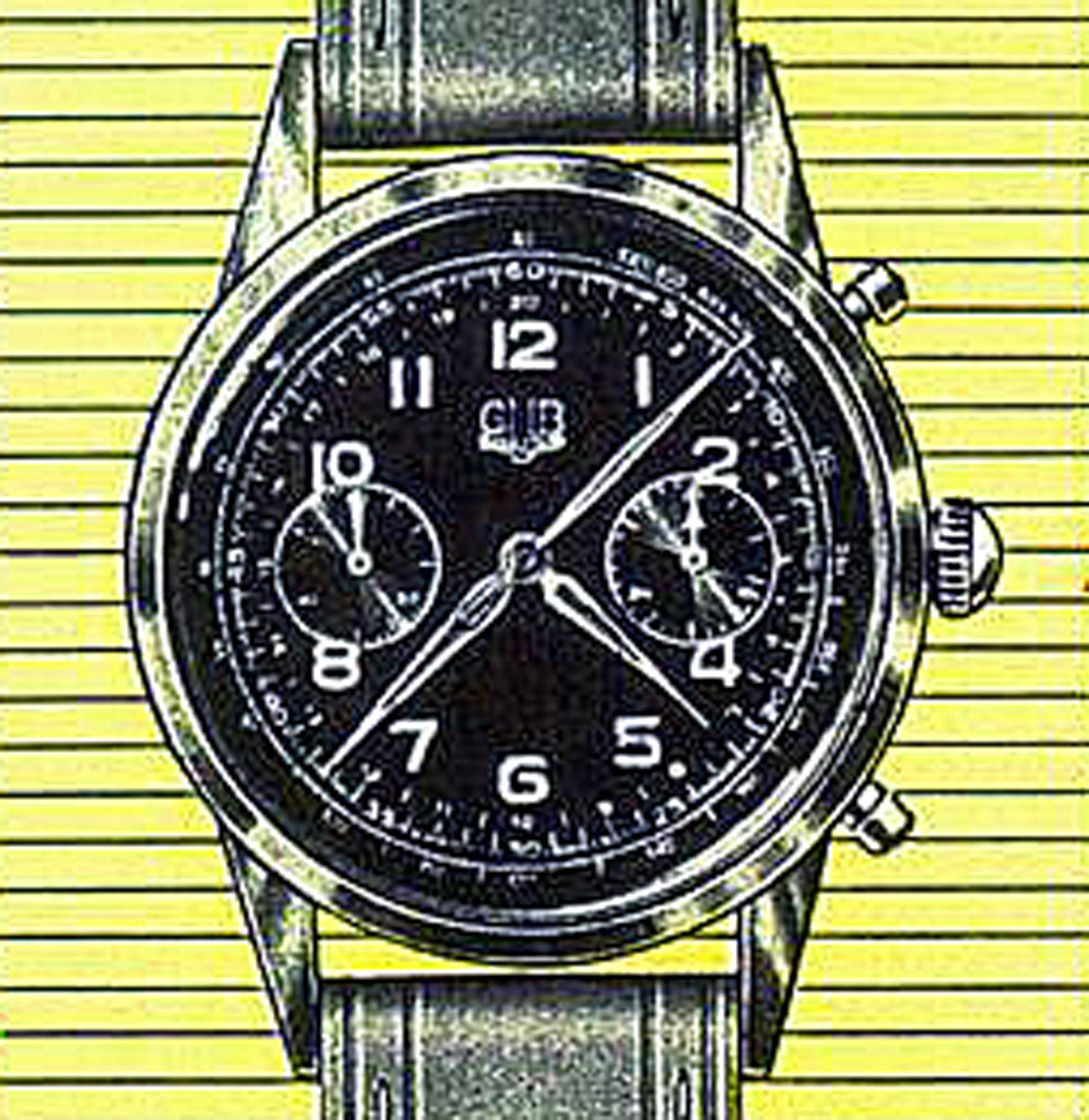 Nr.664/3, Gehäuse Plaqué 20 Mikron, Edelstahlboden, wassergeschützt.