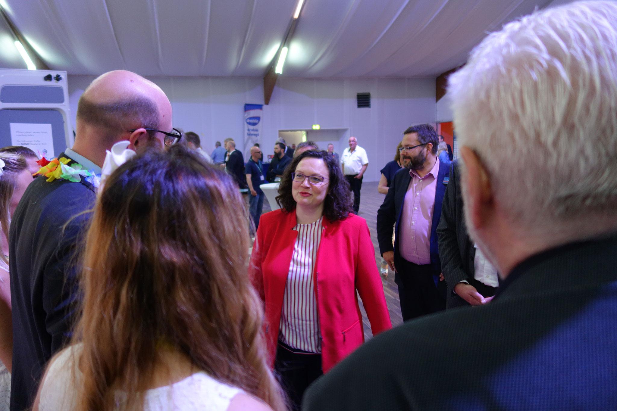Messerundgang mit Andrea Nahles, SPD