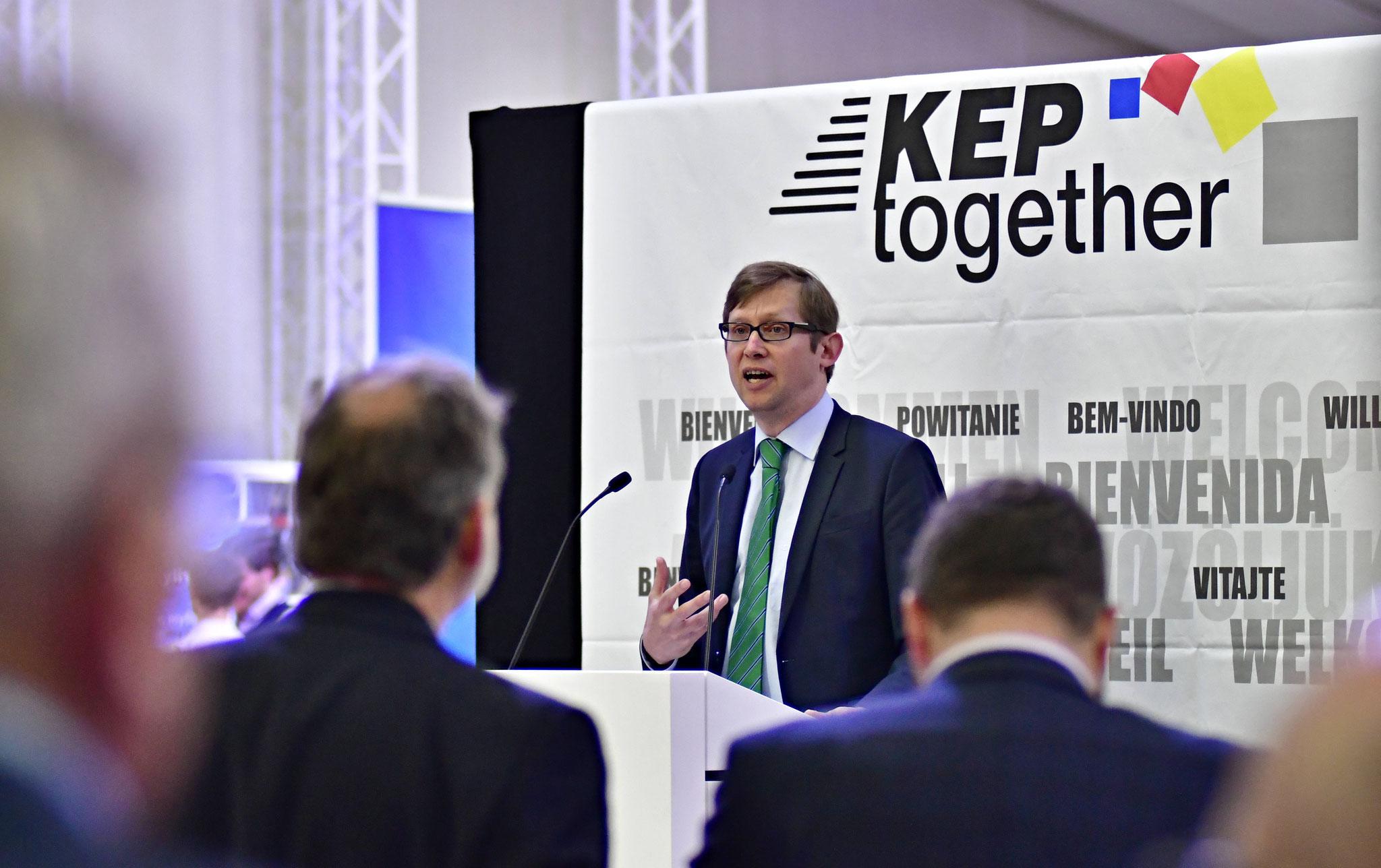 Jens Deutschendorf, Staatssekretär, eröffnete die 6. EUROPÄISCHEN KEP-TAGE