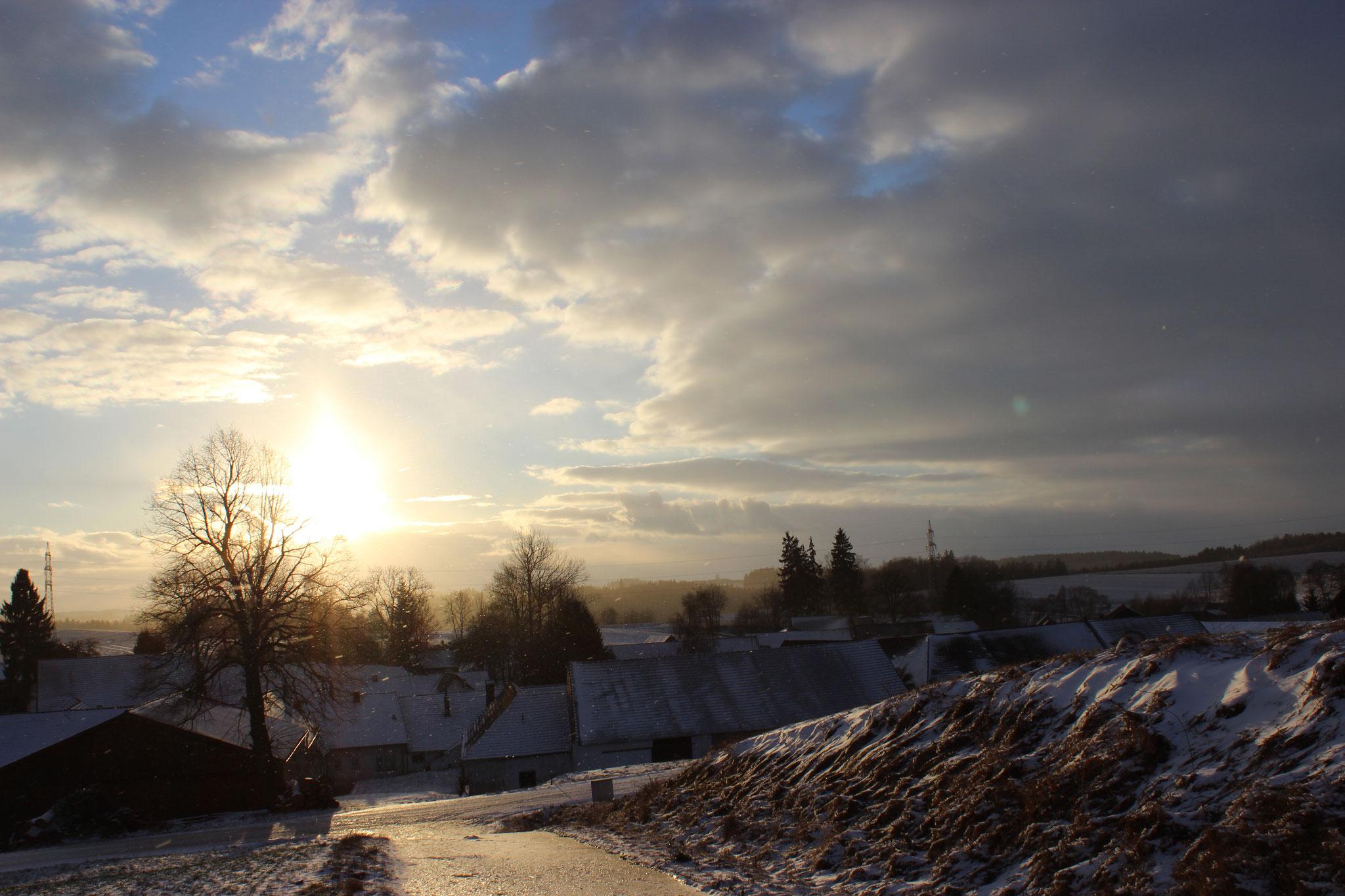 Winter-Märchen-Landschaft
