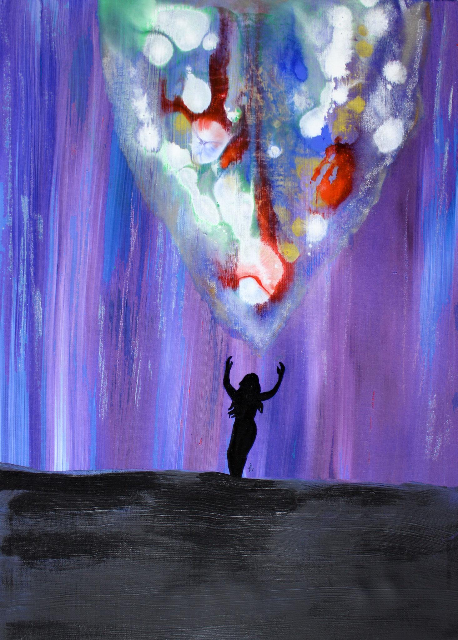 """""""Lebendigkeit""""; Acryl auf Leinwand; 70 x 50 cm"""