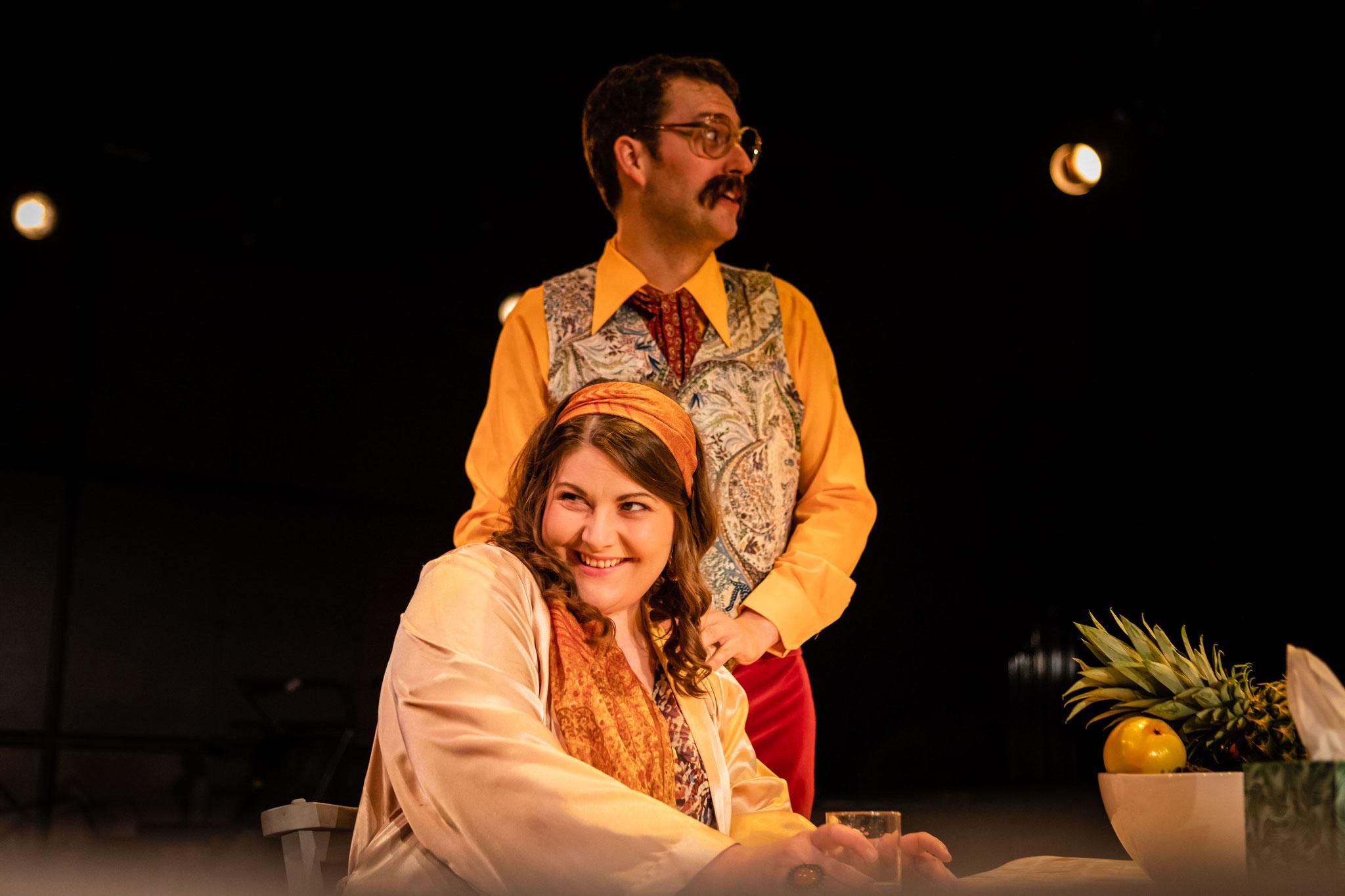 Rosalinde & Eisenstein (Matthew Palmer), Die Fledermaus: Guildhall School Opera Makers July 2019 - Photo courtesy of FGStudios