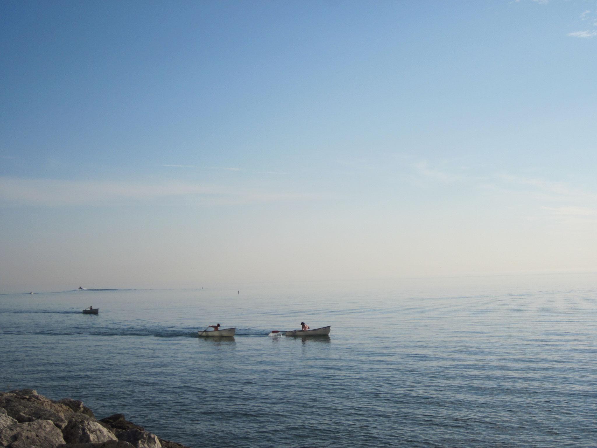 ミシガン湖の朝