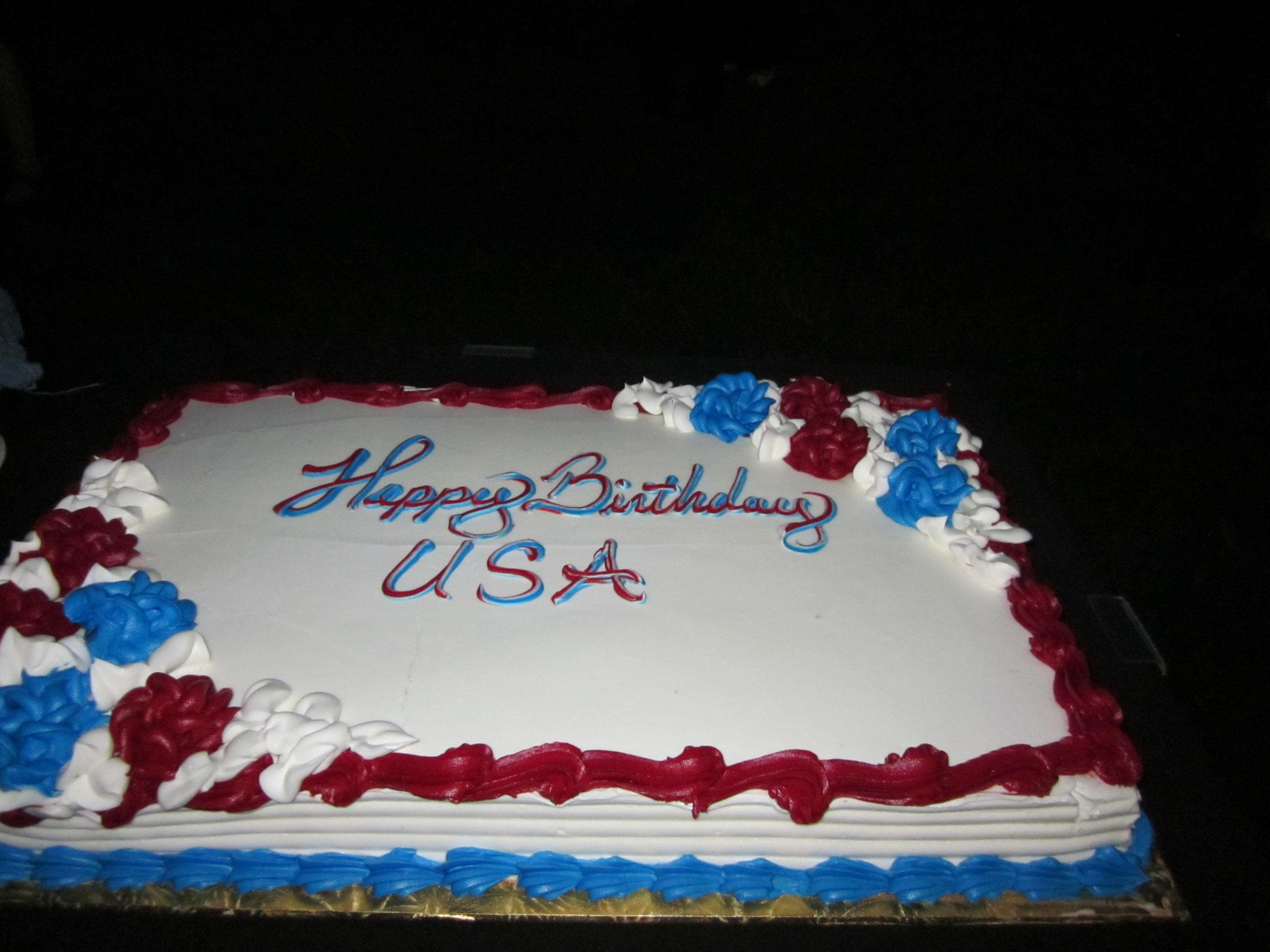 独立記念日のお祝いケーキ