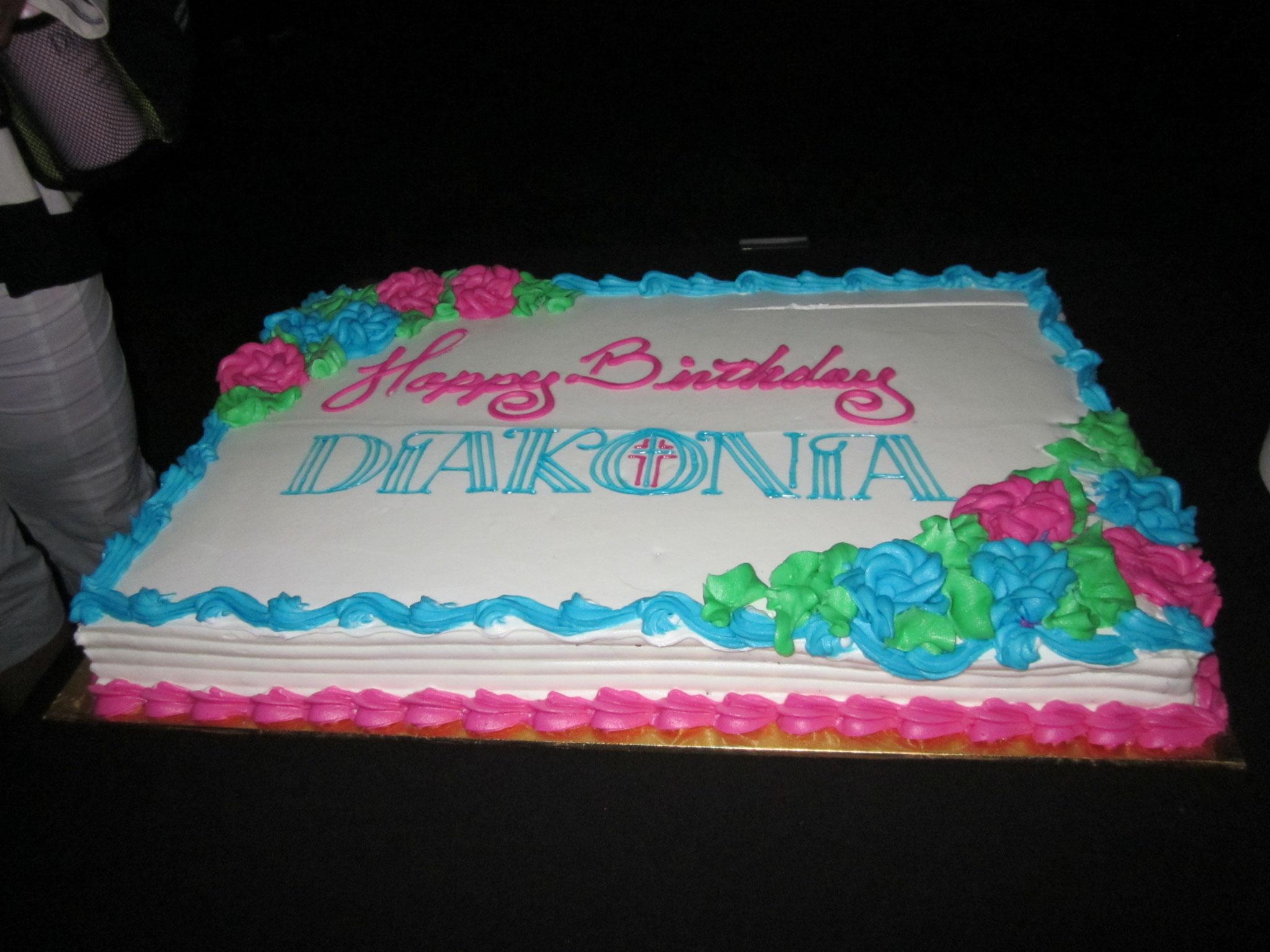 ディアコニア70周年のケーキ