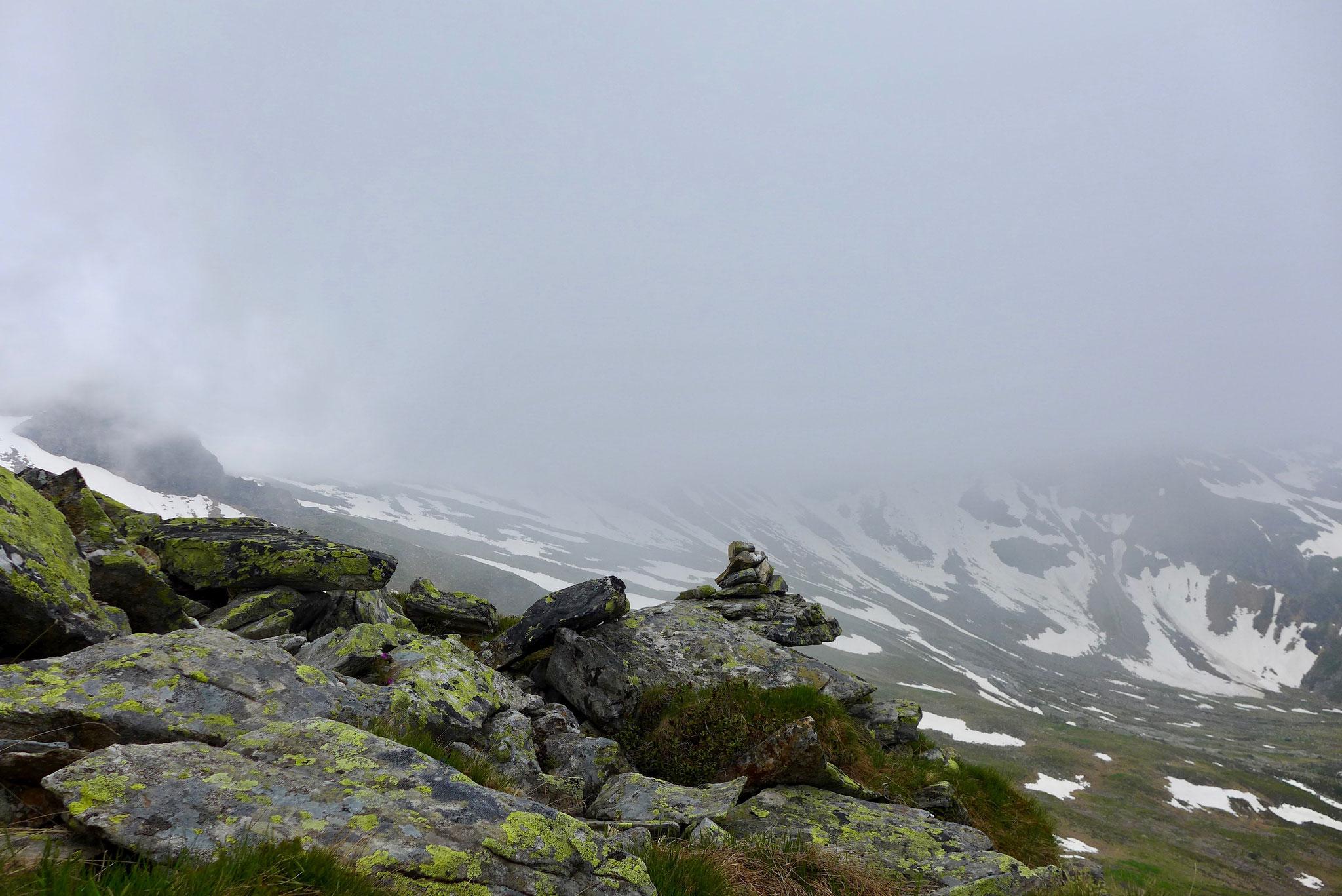 Leider verdeckten Wolken bald alle Gipfel.
