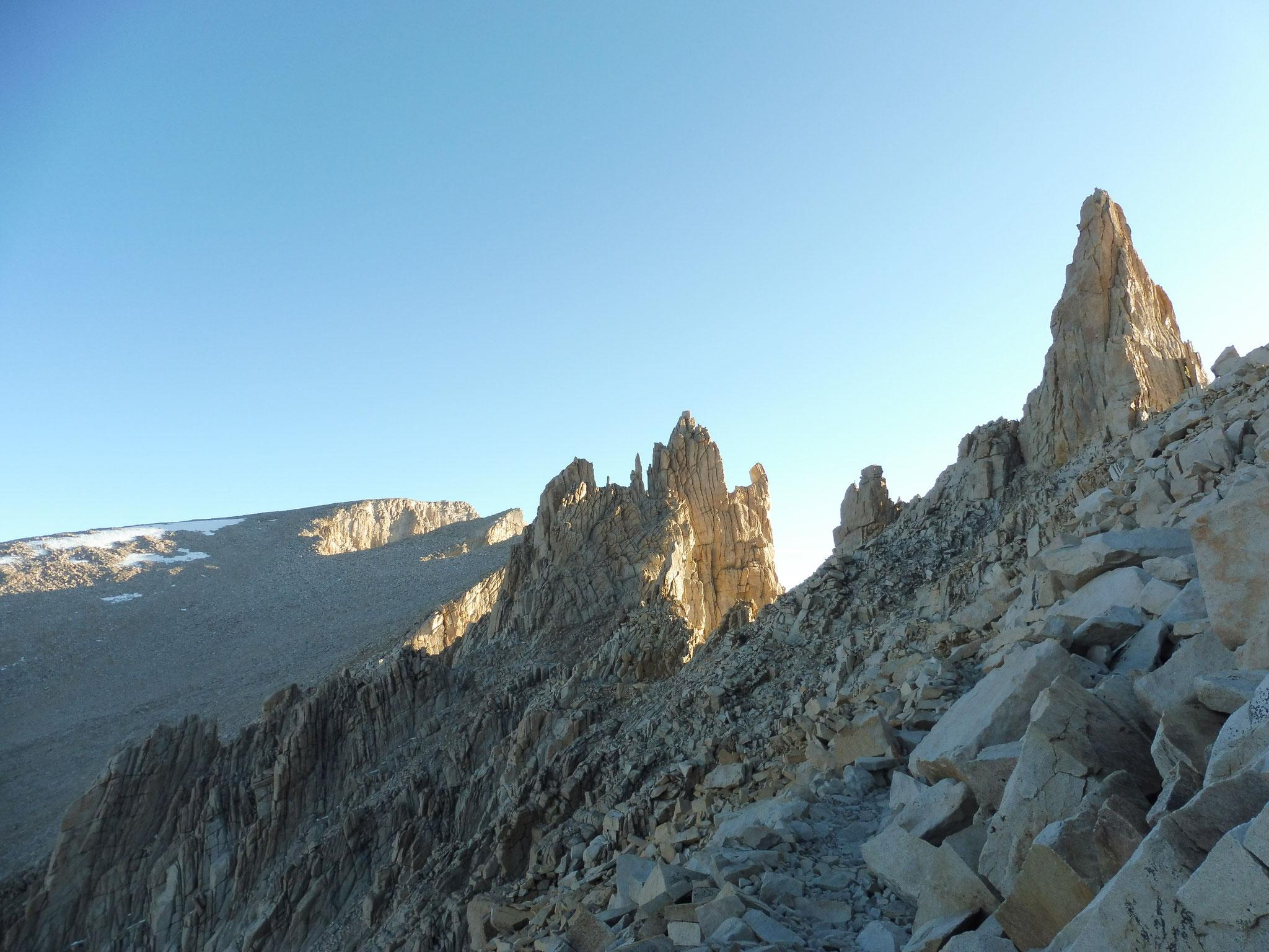 Aufstieg Mount Whitney kurz nach Trail Crest