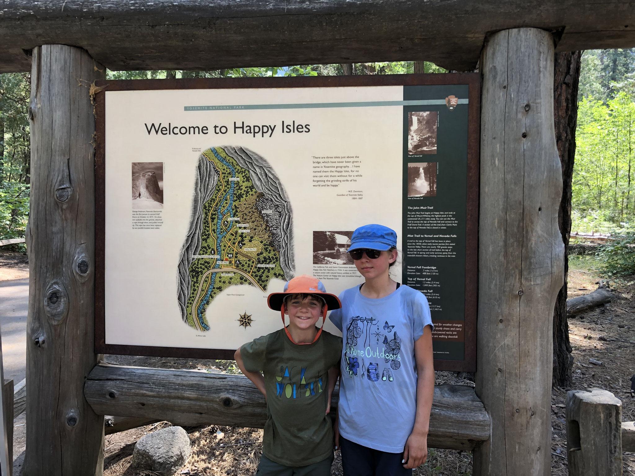 Geschafft, Happy Isle im Yosemite Valley