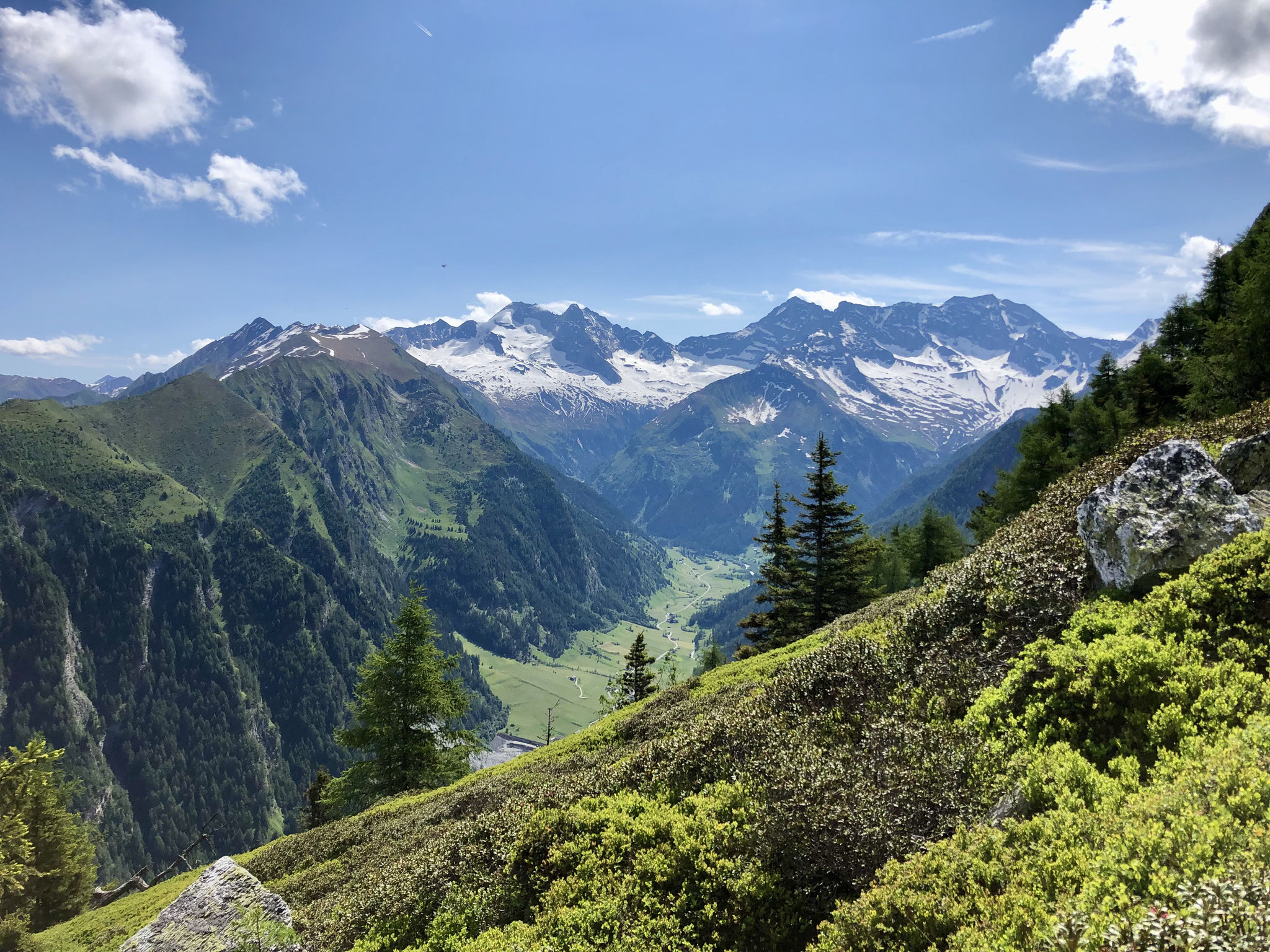 Auch auf dem Abstieg hat man tolle Ausblicke.