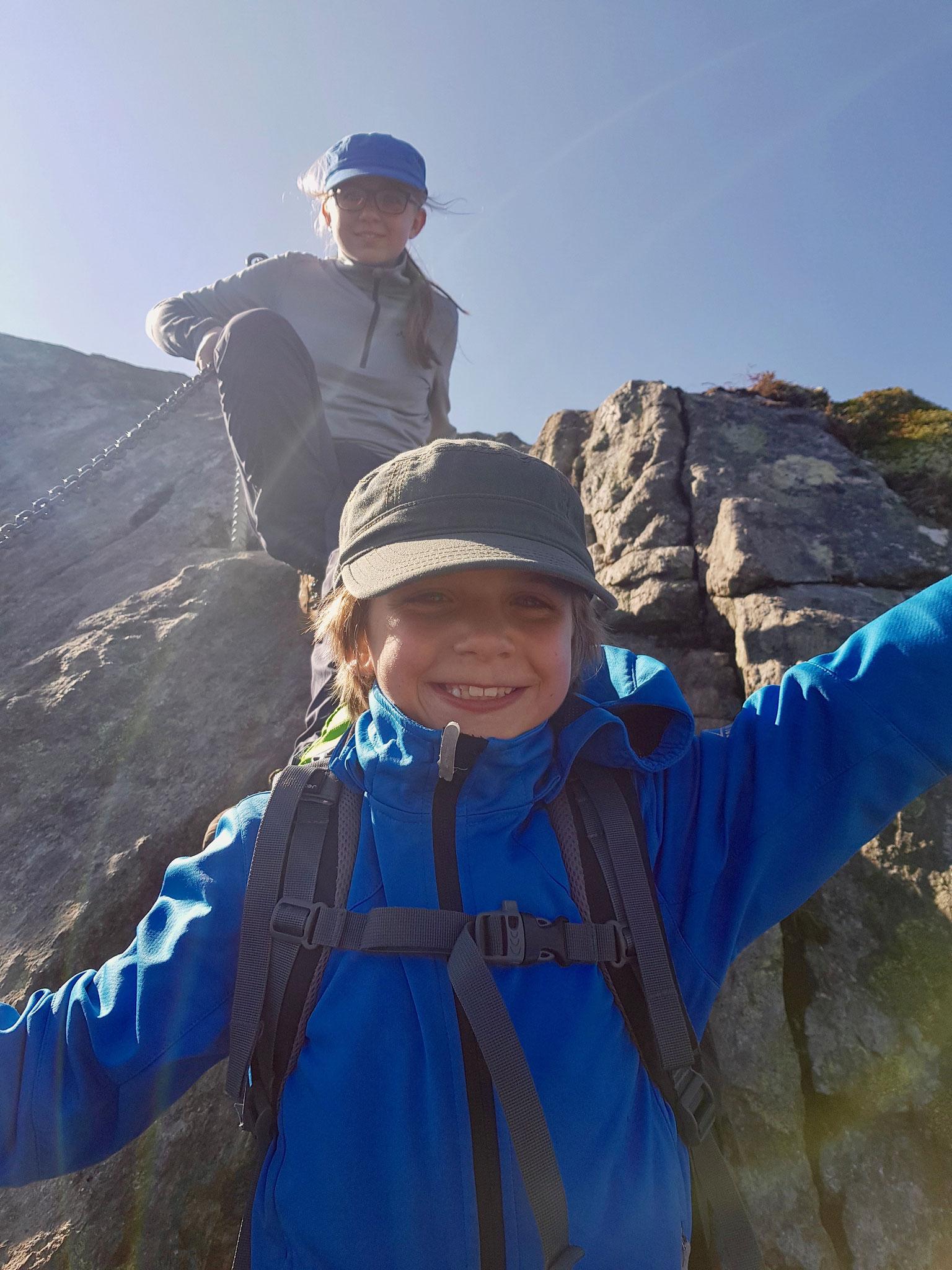 Die Klettereinlagen haben immer mehr Spaß gemacht.