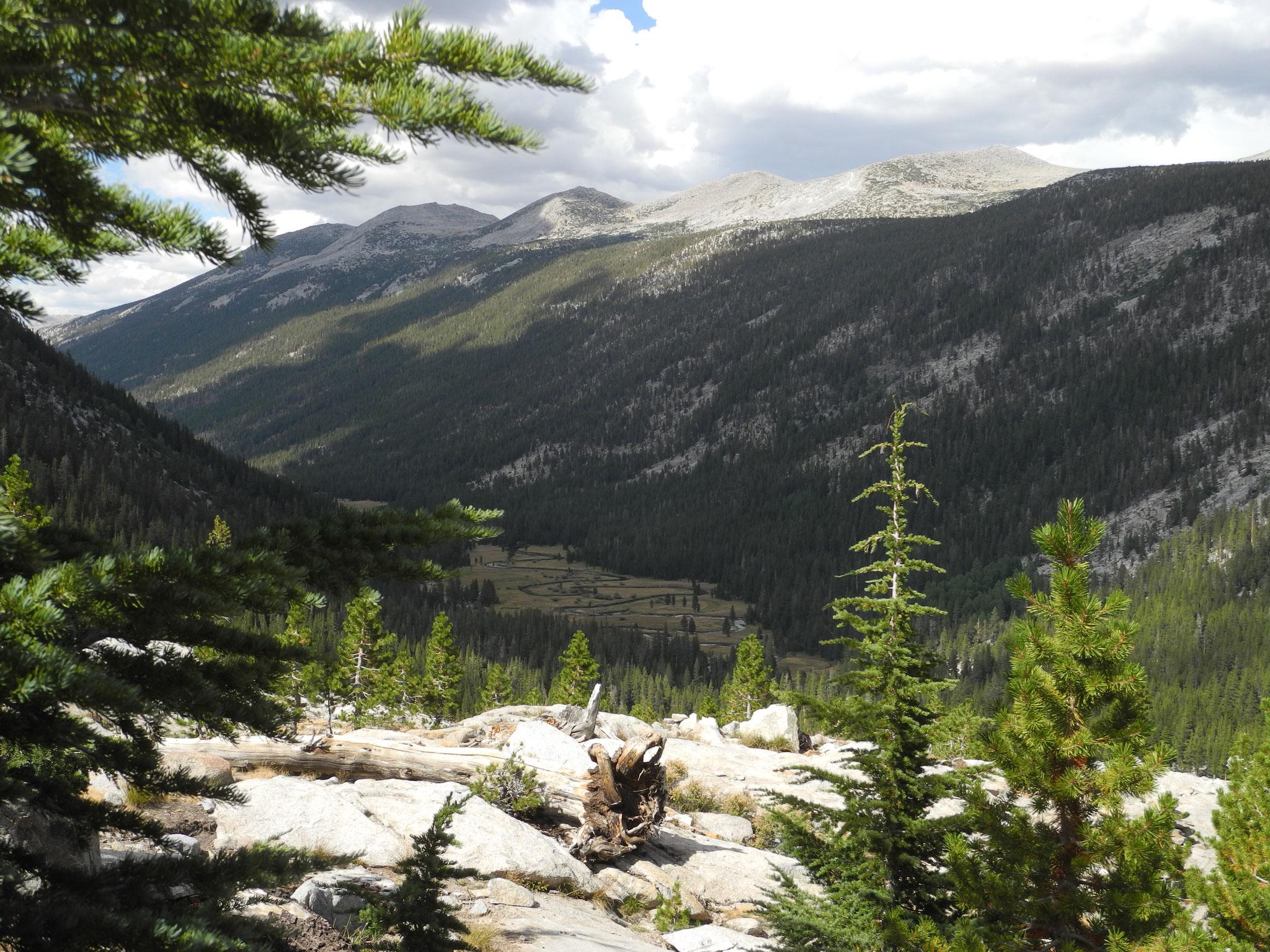 Camp 3 wird im Lyell Canyon sein. Das Tal ruft.