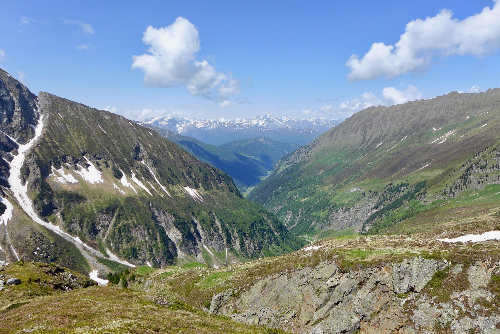 Der Blick von der Hütte Richtung Tal.