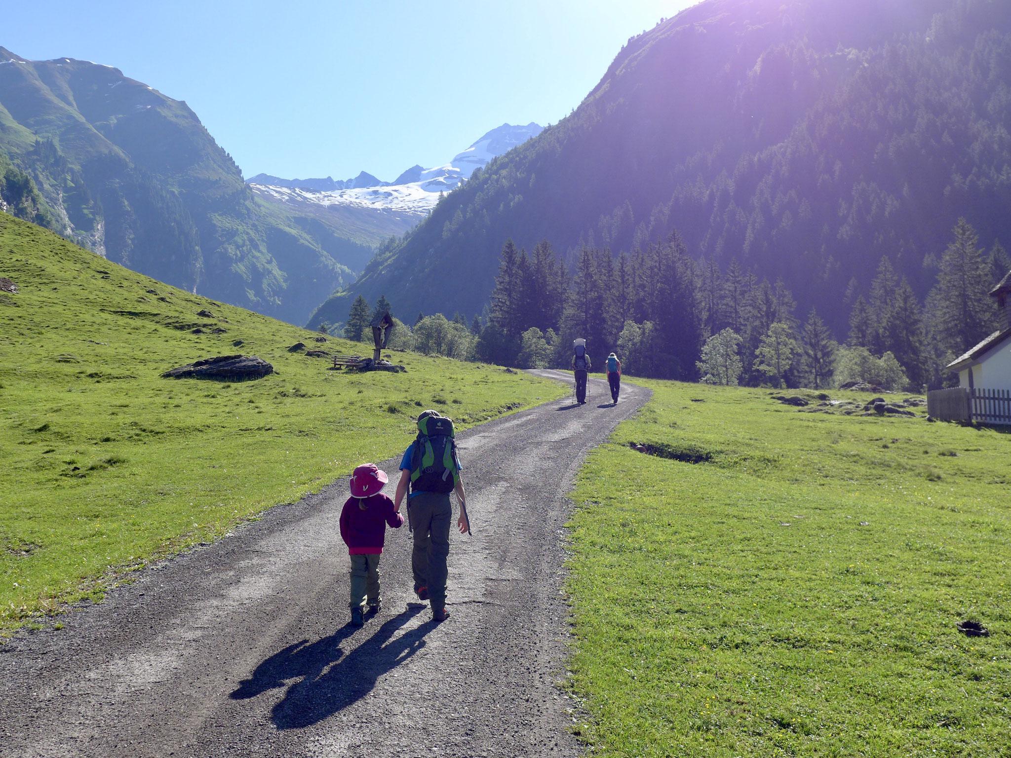 Los gehts Richtung Geraer Hütte.