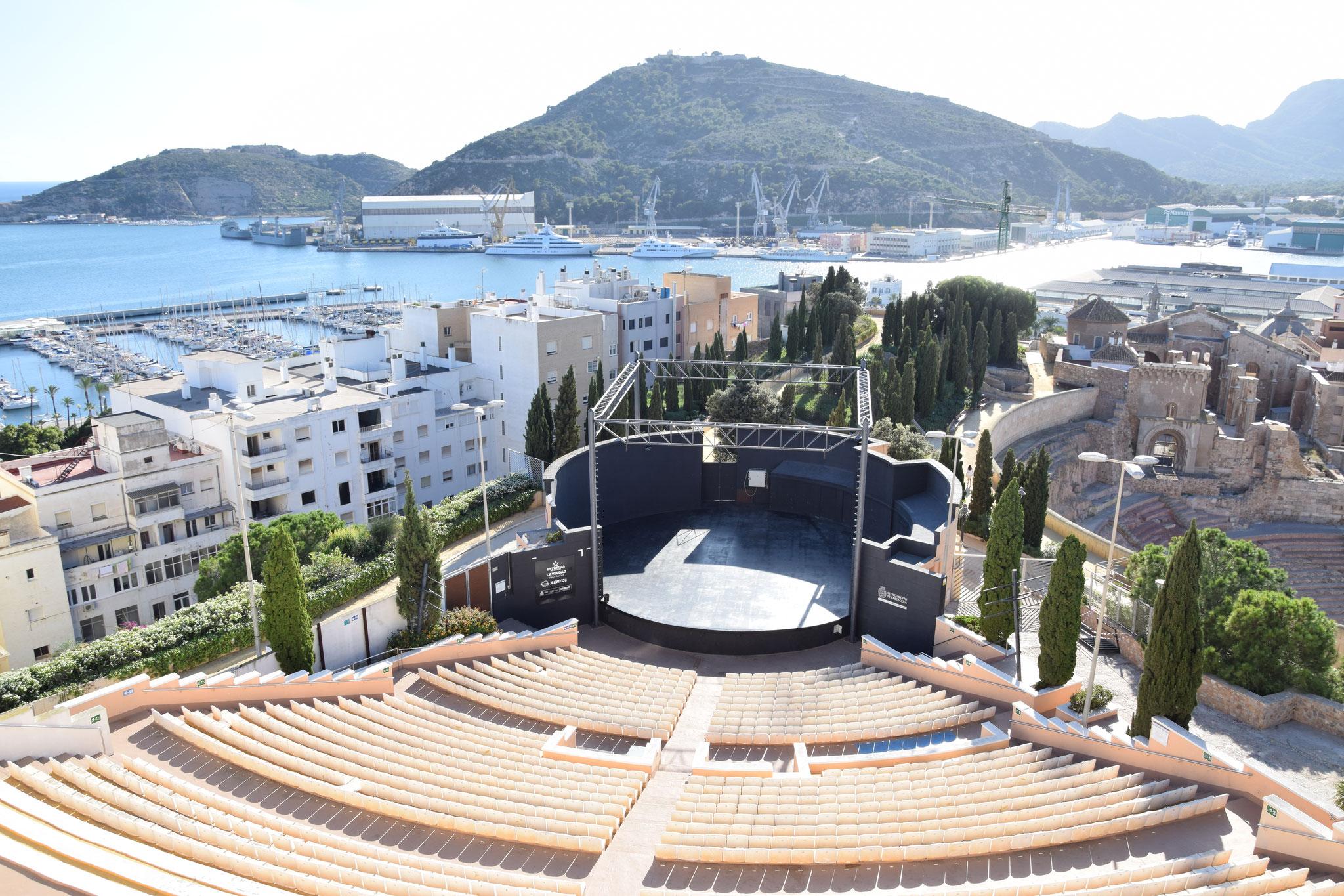 Open-Air-Auditorium für Festivals etc. oberhalb des römischen Theaters