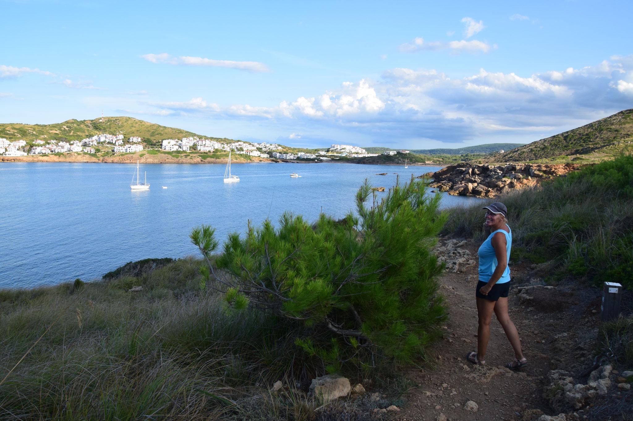 Blick auf die Bucht Cala Tirant