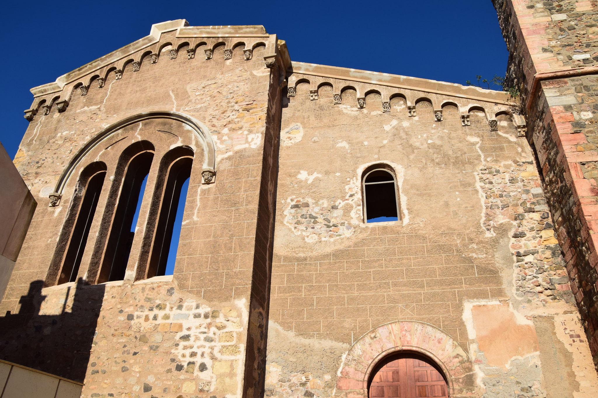 """Ruine der Kathedrale """"Santa Maria la Vieja"""", nur noch die Fassade.."""