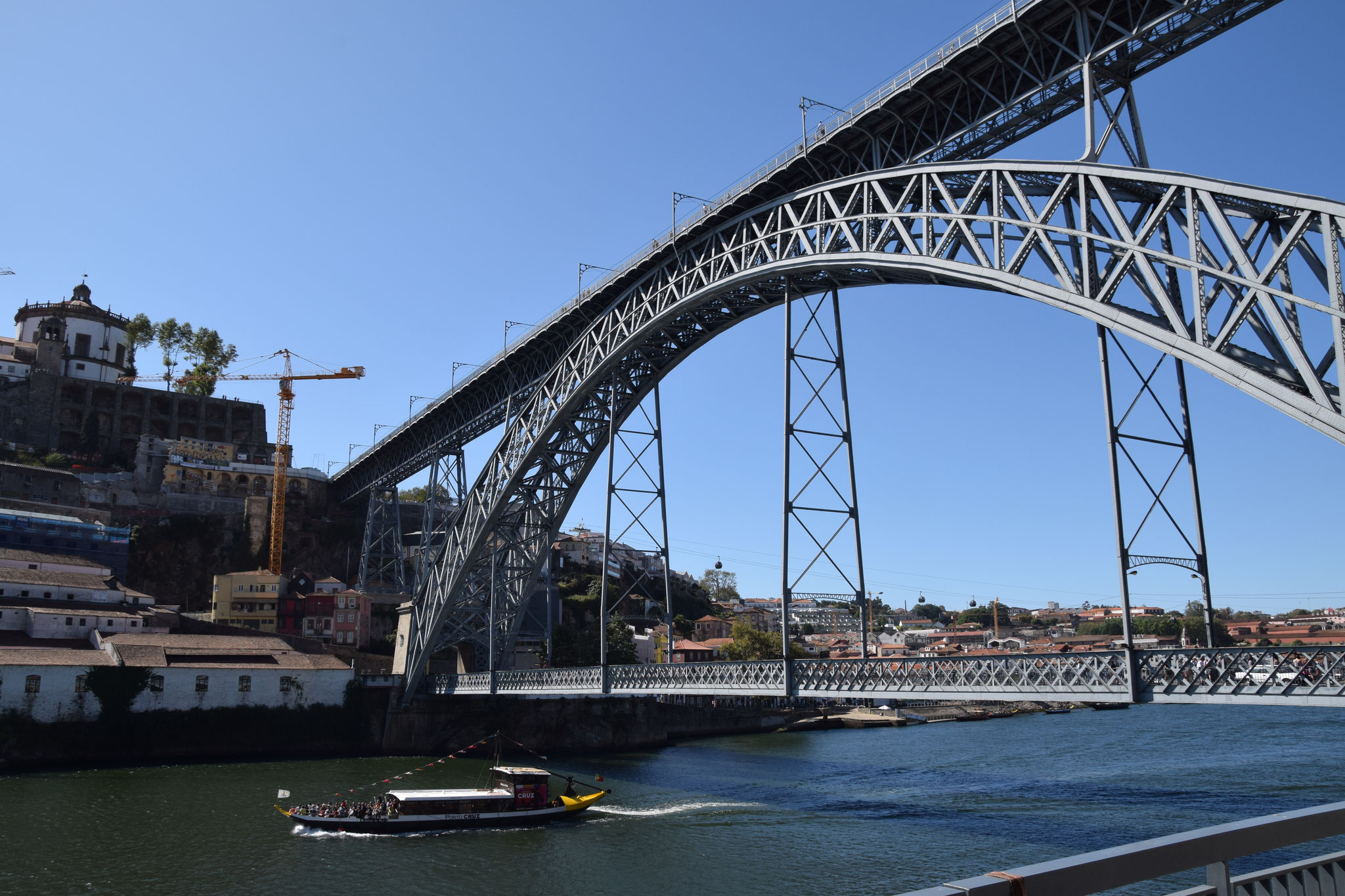 Die zweistöckige Brücke 'Ponte Dom Luis I' von Gustav Eiffel