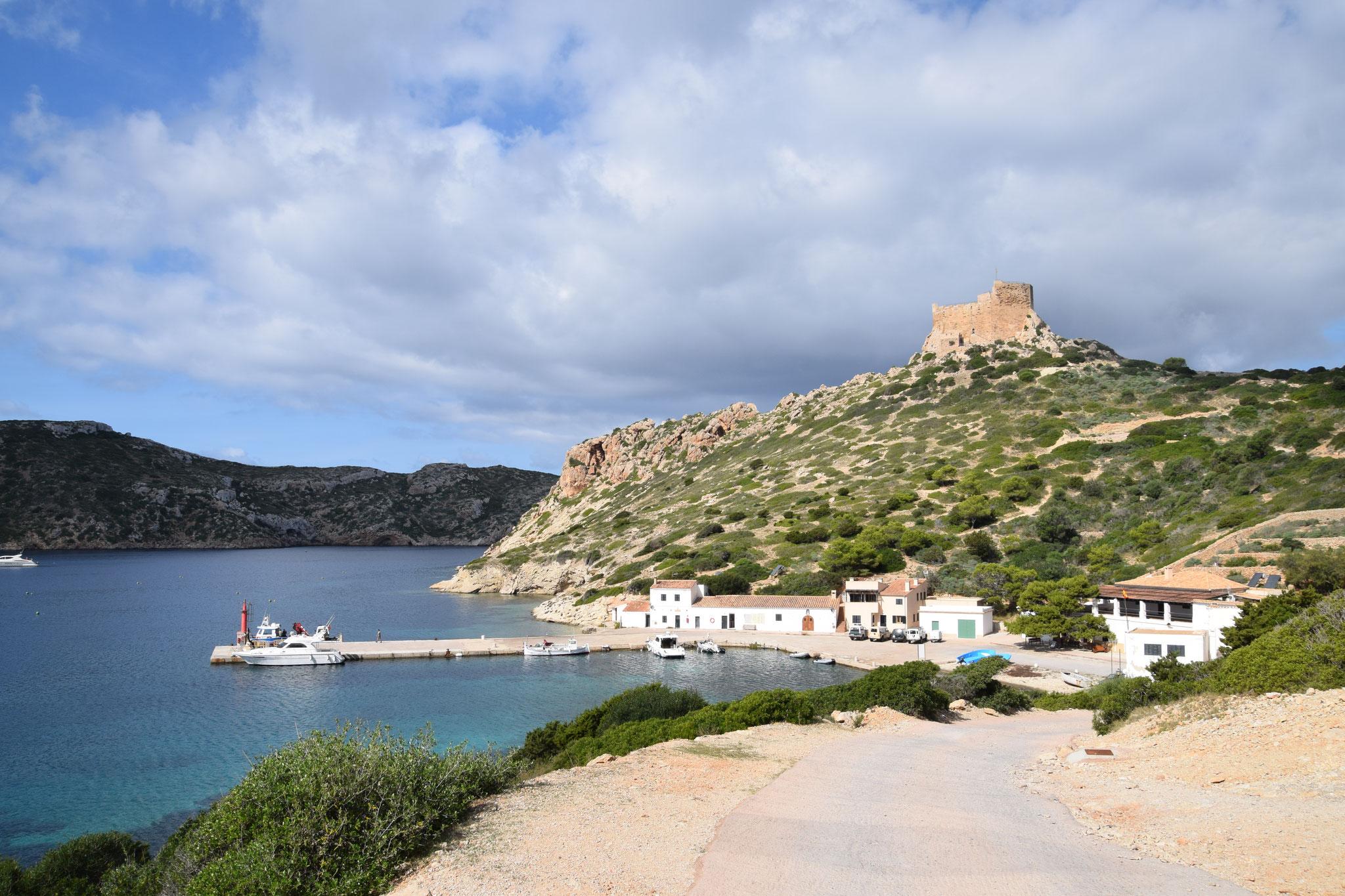 Blick auf den Haupttreffpunkt der Insel