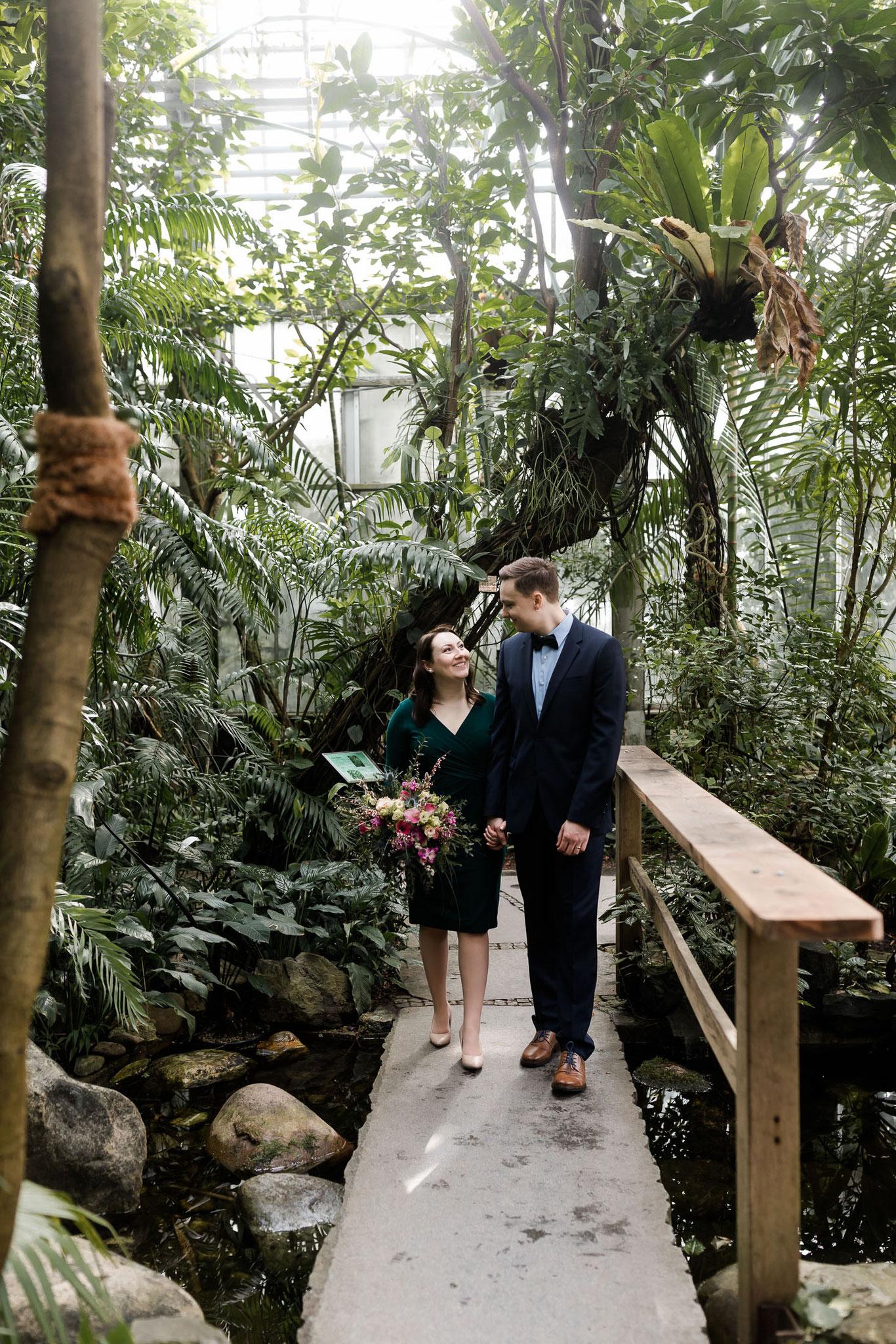 Hochzeit in Erlangen Schlosspark Botanischer Garten
