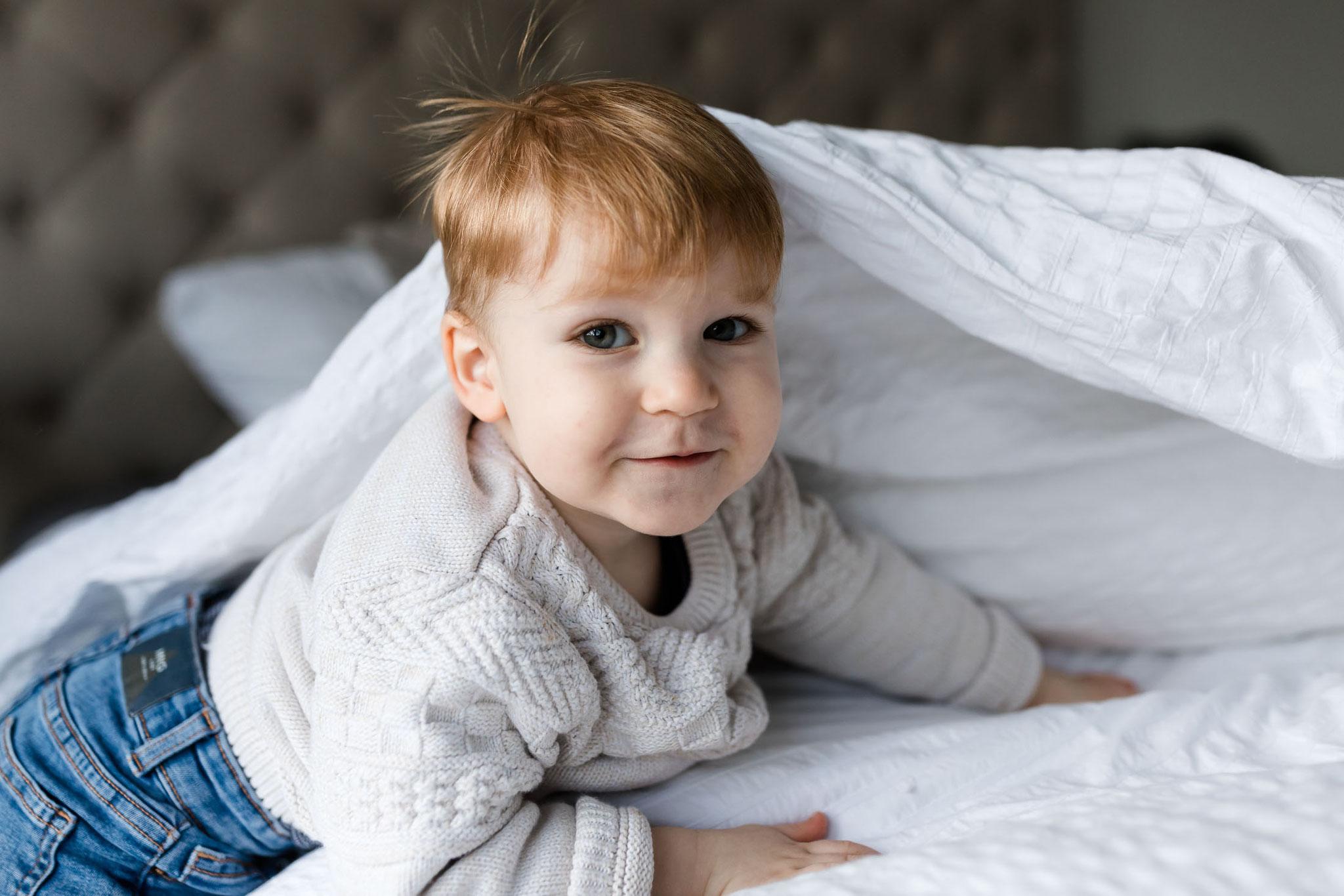 Portrait im Bett