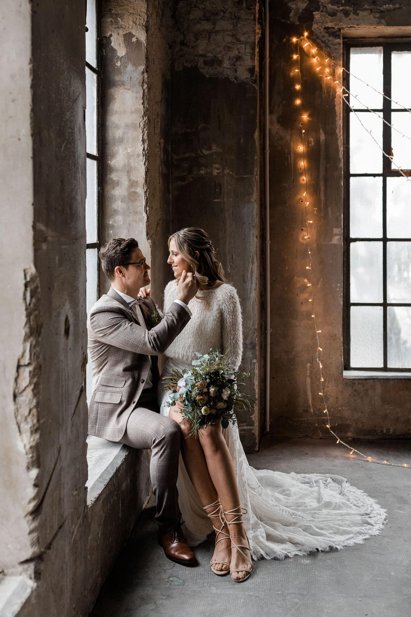 Winterhochzeit Zeche Fürst Leopold Dorsten Lena Manteuffel Hochzeitsfotografin