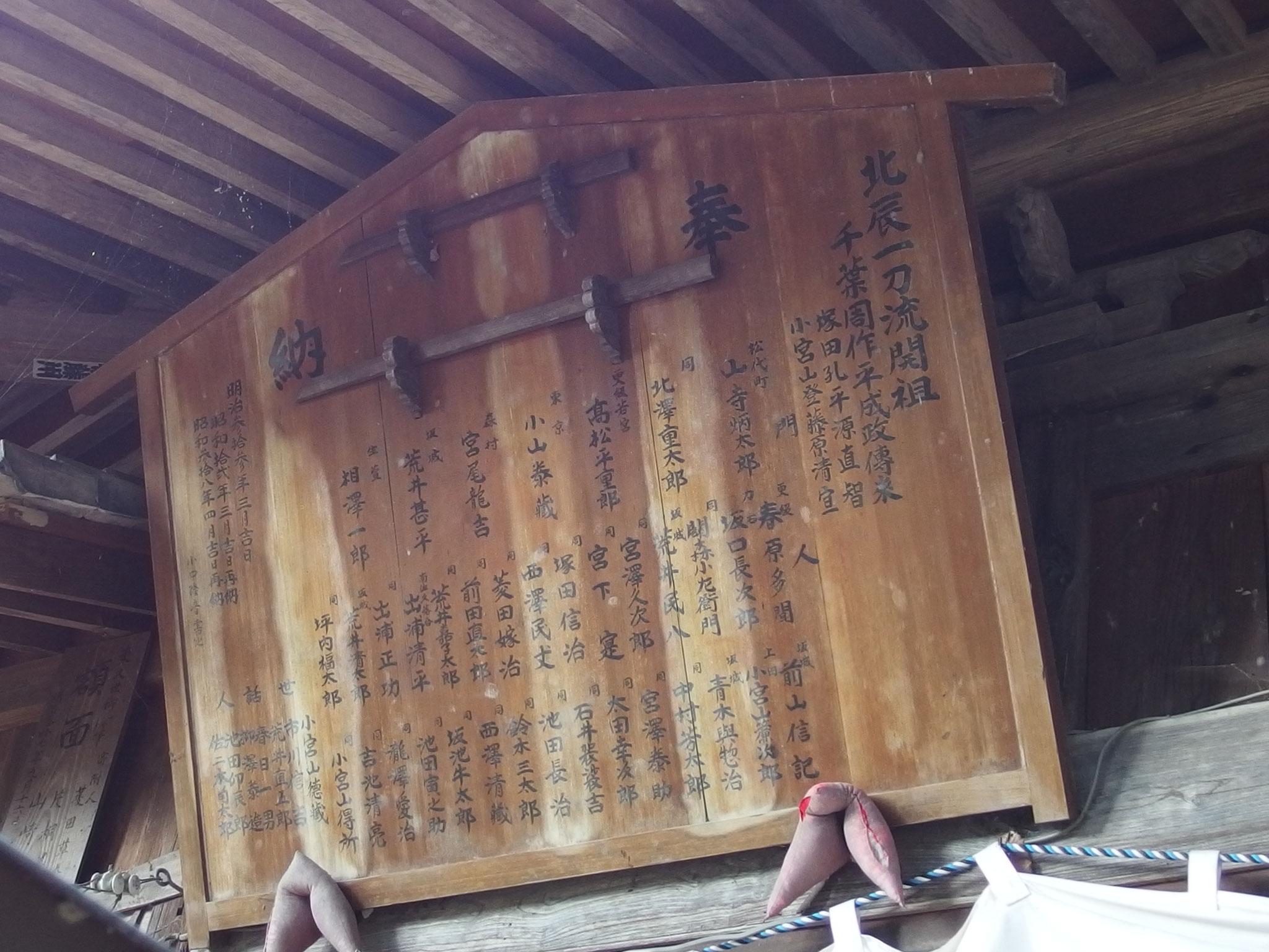 坂城神社奉納額