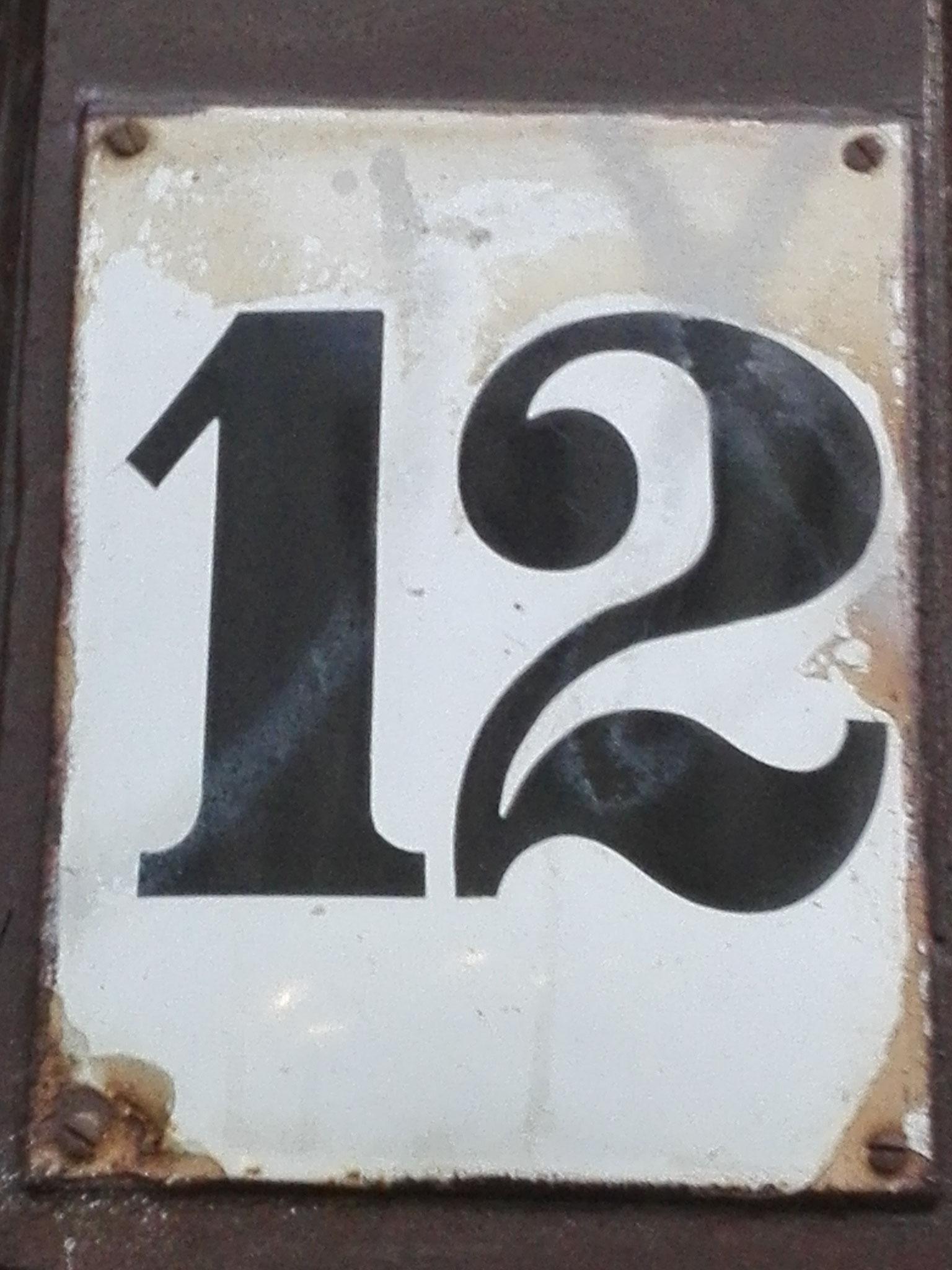 Hausnummer, Foto: Theda Lindloff