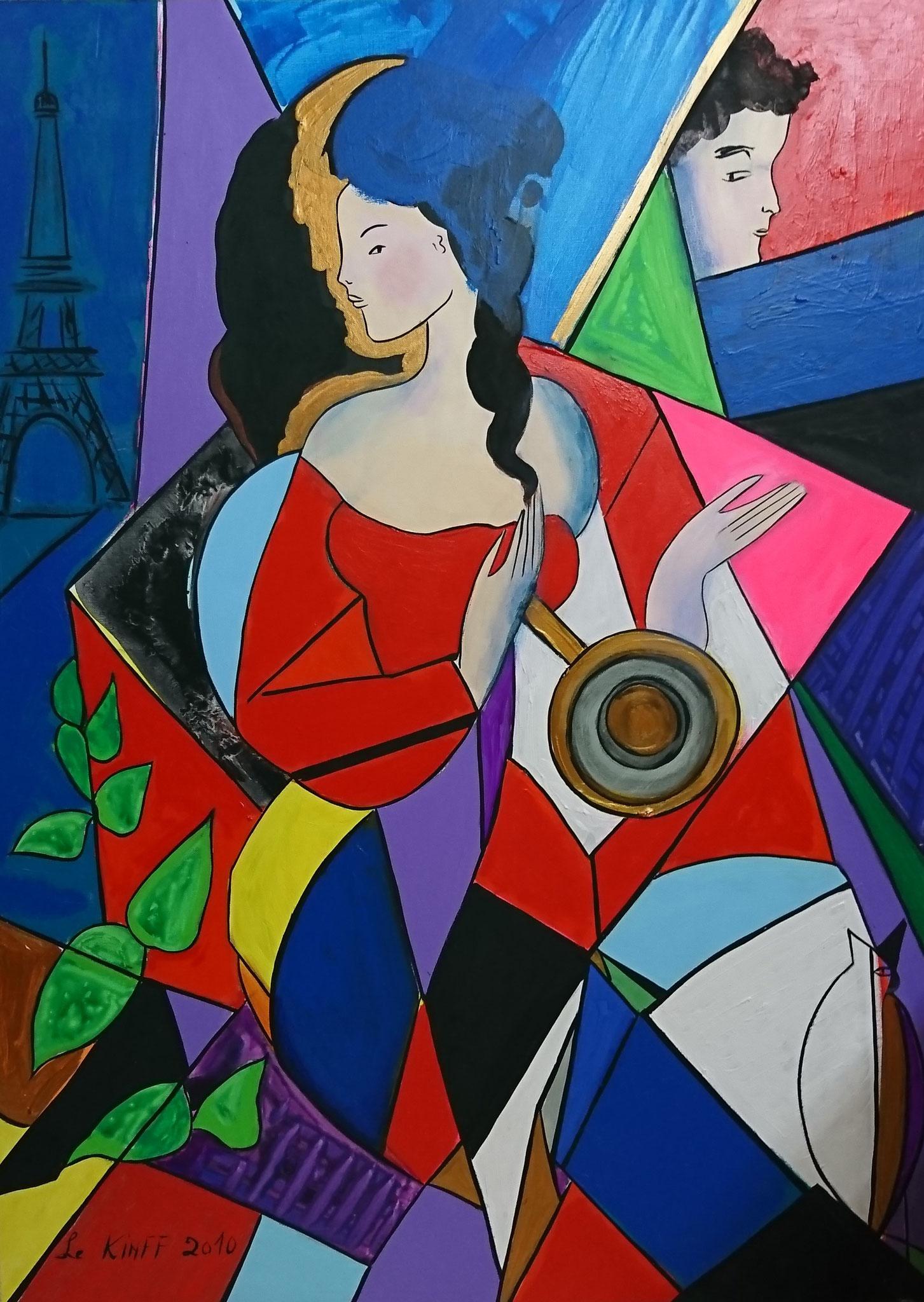 Chérie bibi et la grande brune. 60F. canvas. 2010
