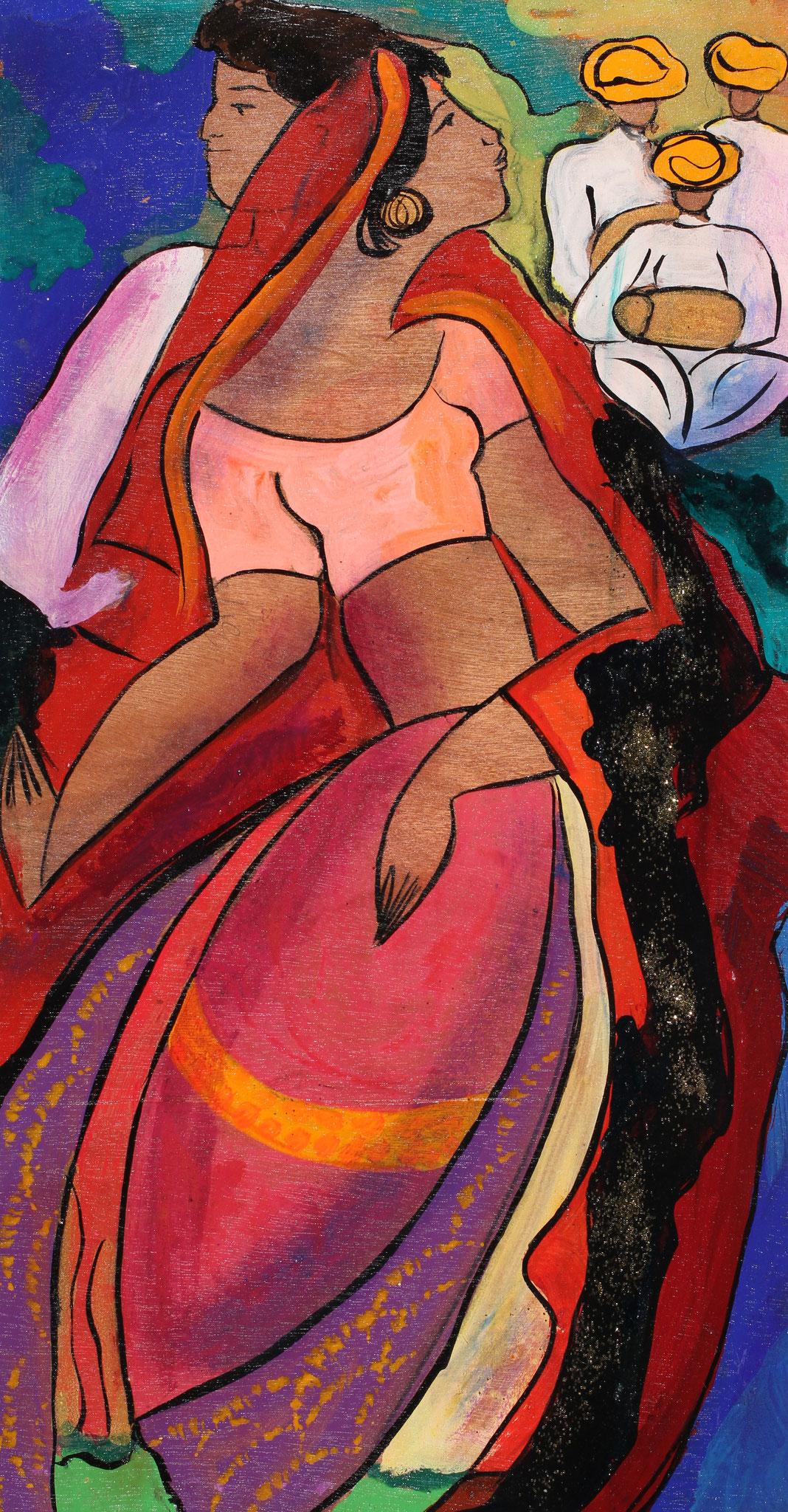 Gomati India - wood - 2012 - Linda Le Kinff
