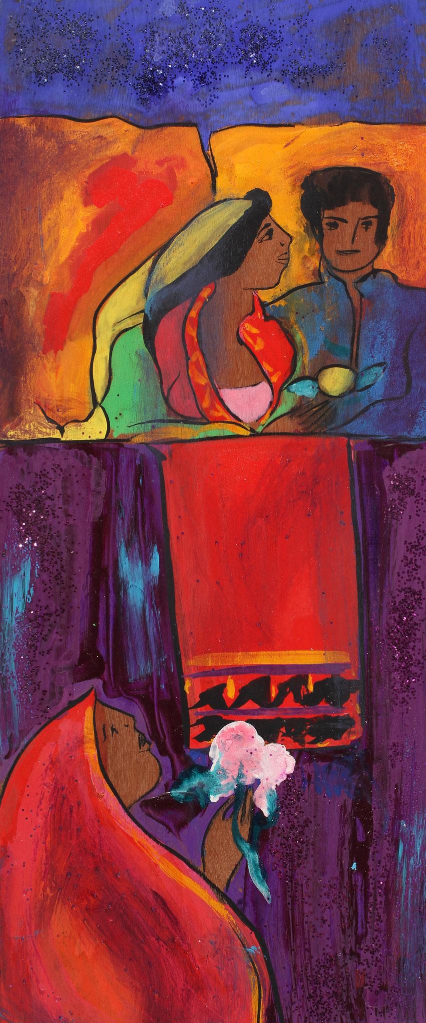 Noce indienne - wood - 2010 - Linda Le Kinff