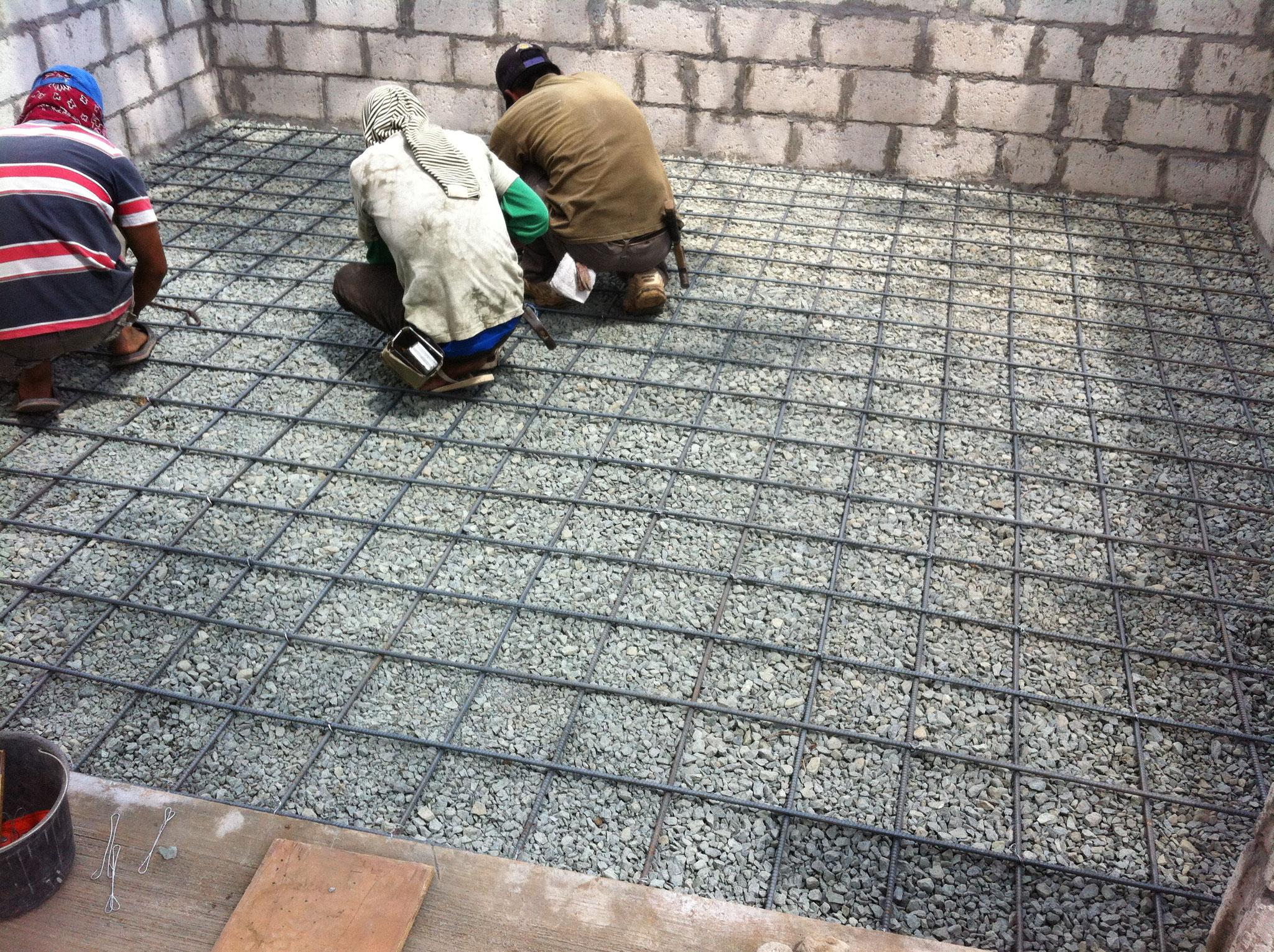 Bodenarmierung Schuppen
