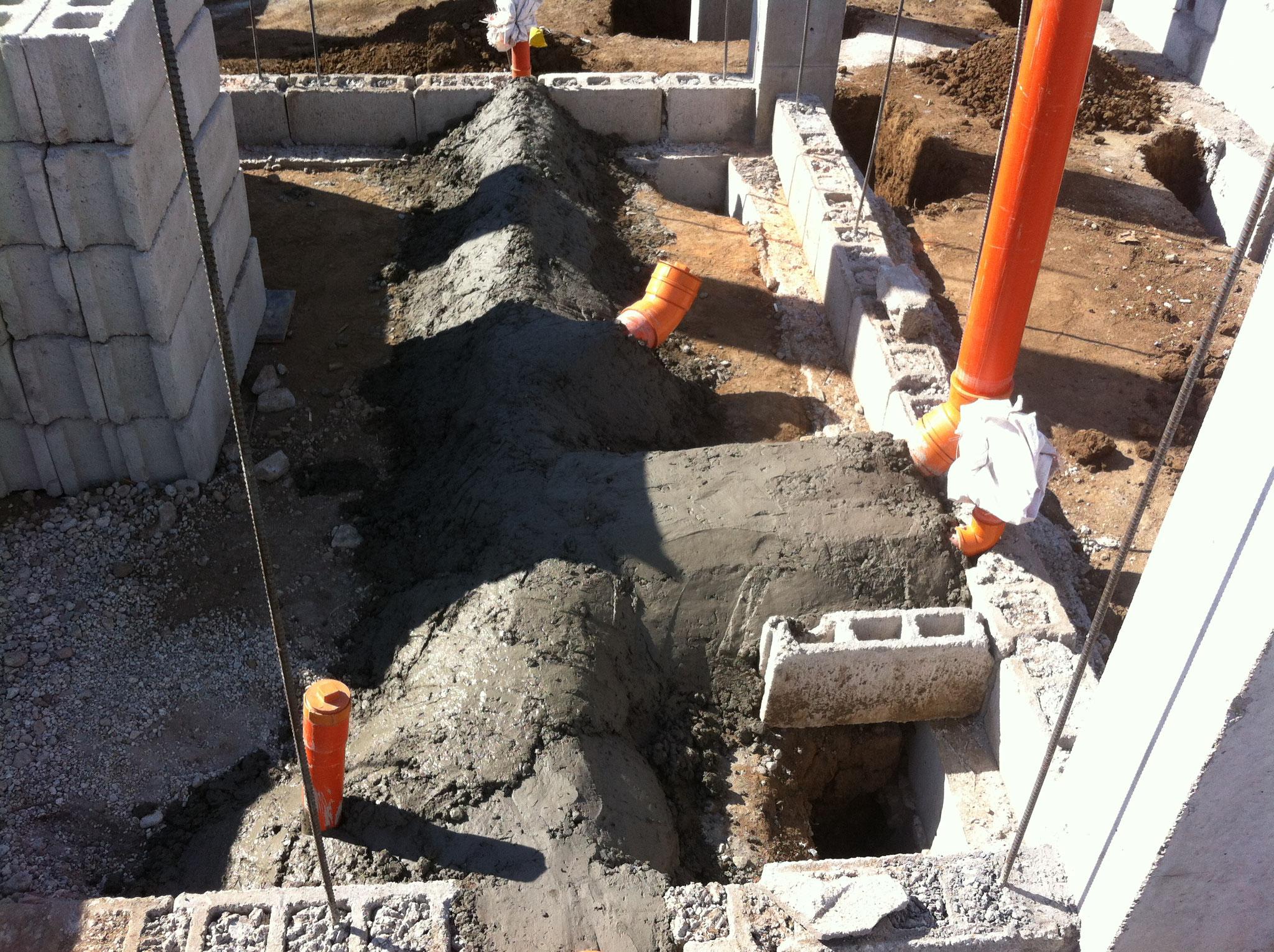 PVC Leitungen einbetoniert