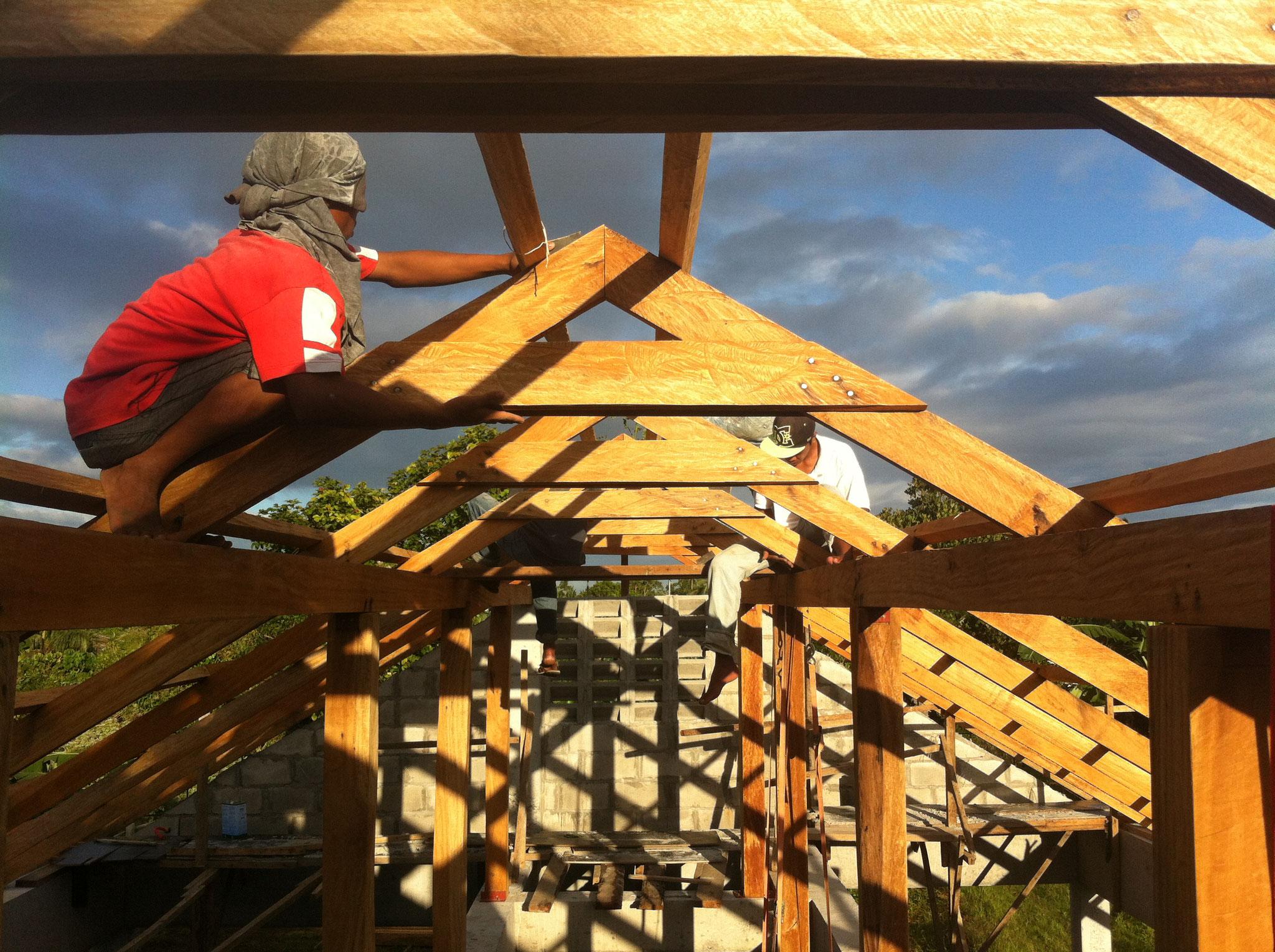 Zweifach stehender Dachstuhl