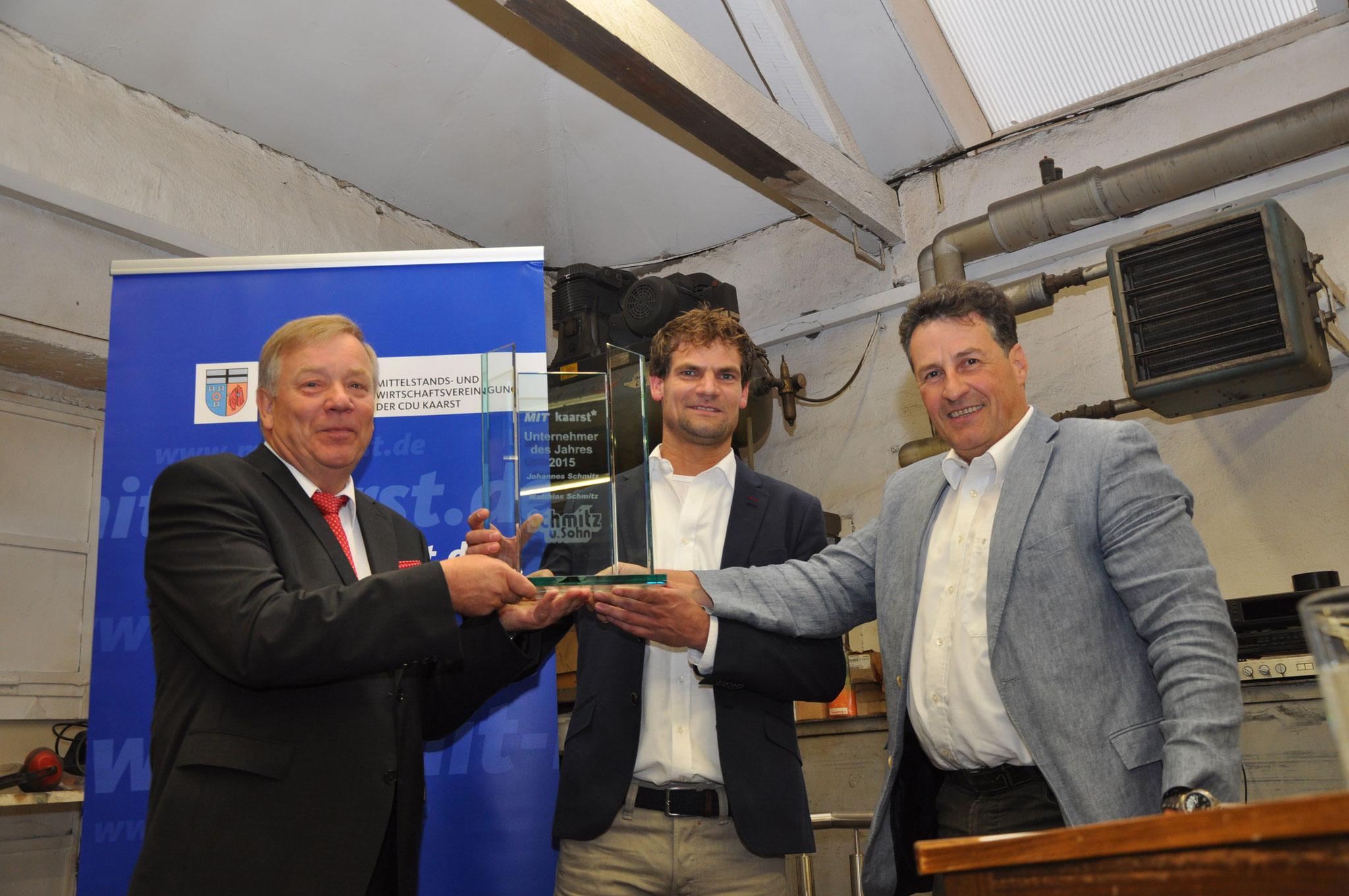 Unternehmer des Jahres 2015 - Schmitz und Sohn