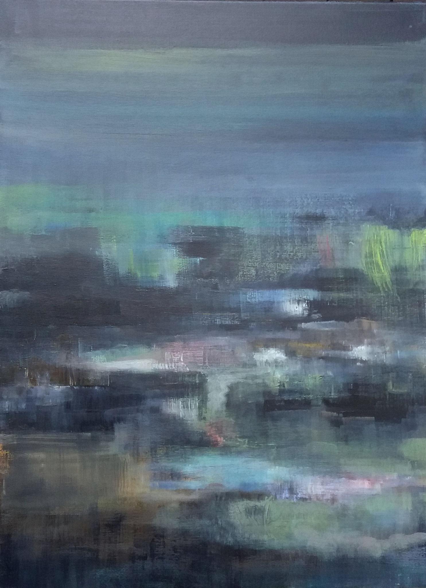 Paysage N - 80 x 60 - Acrylique sur toile - 2019