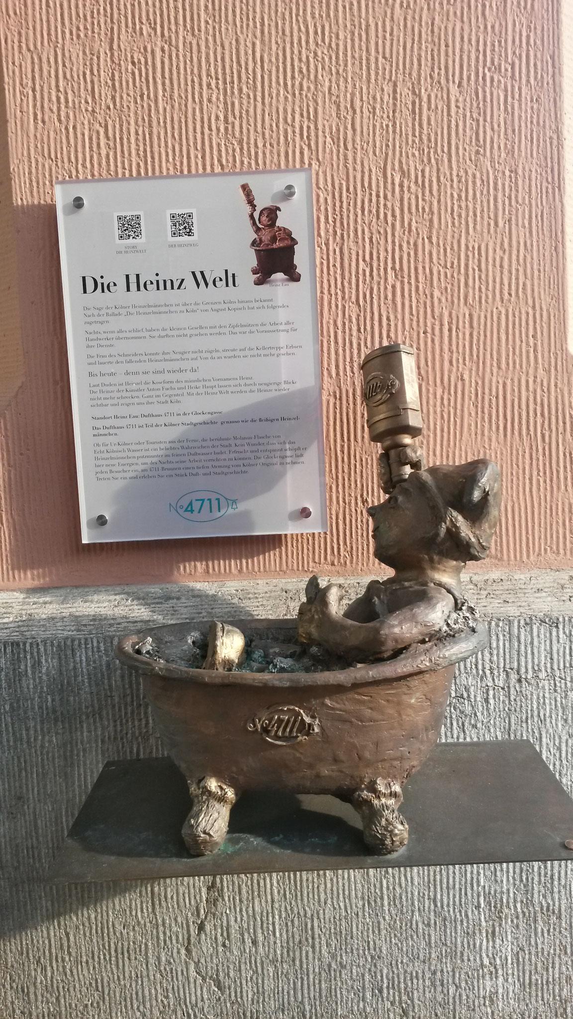 Heinzelmännchen Short Story/ Duftwasserbrunnen im Winter abgestellt.