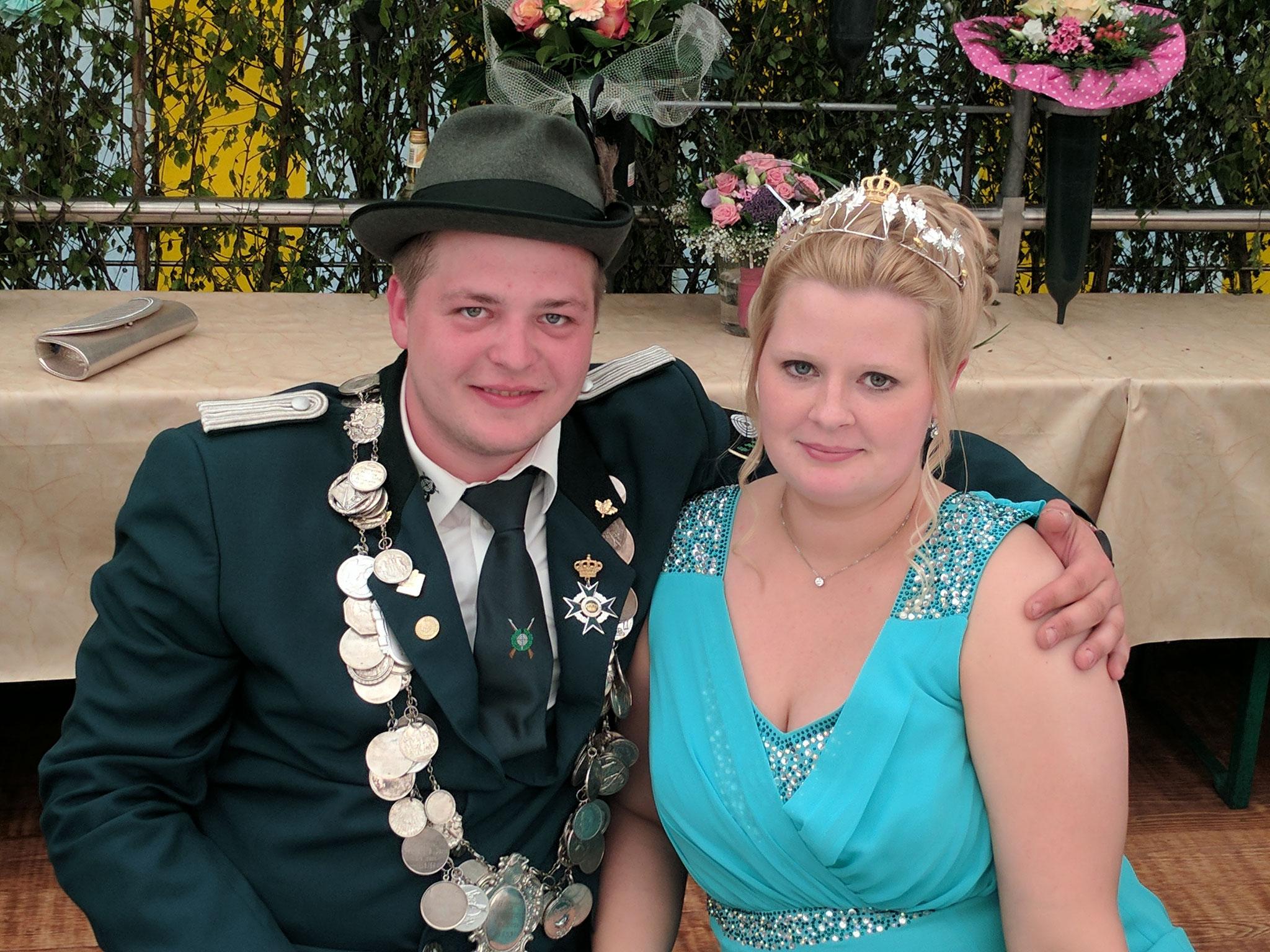 König Christian mit Königin Maike
